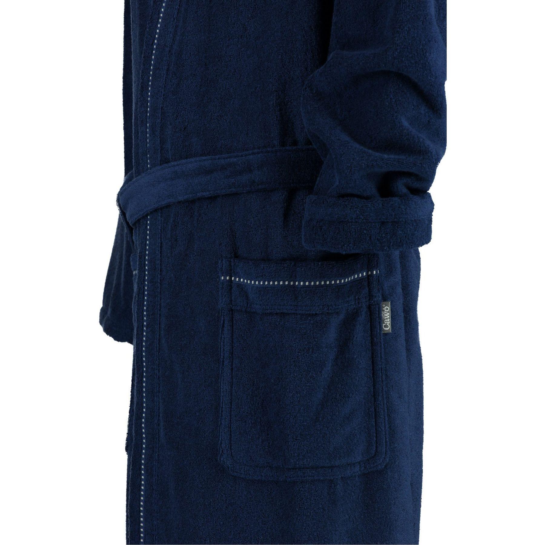 Cawö - Herren Walkfrottier Bademantel mit Kimono Form in verschiedenen Farbvarianten (4511/GG8136/SG4910) – Bild 3