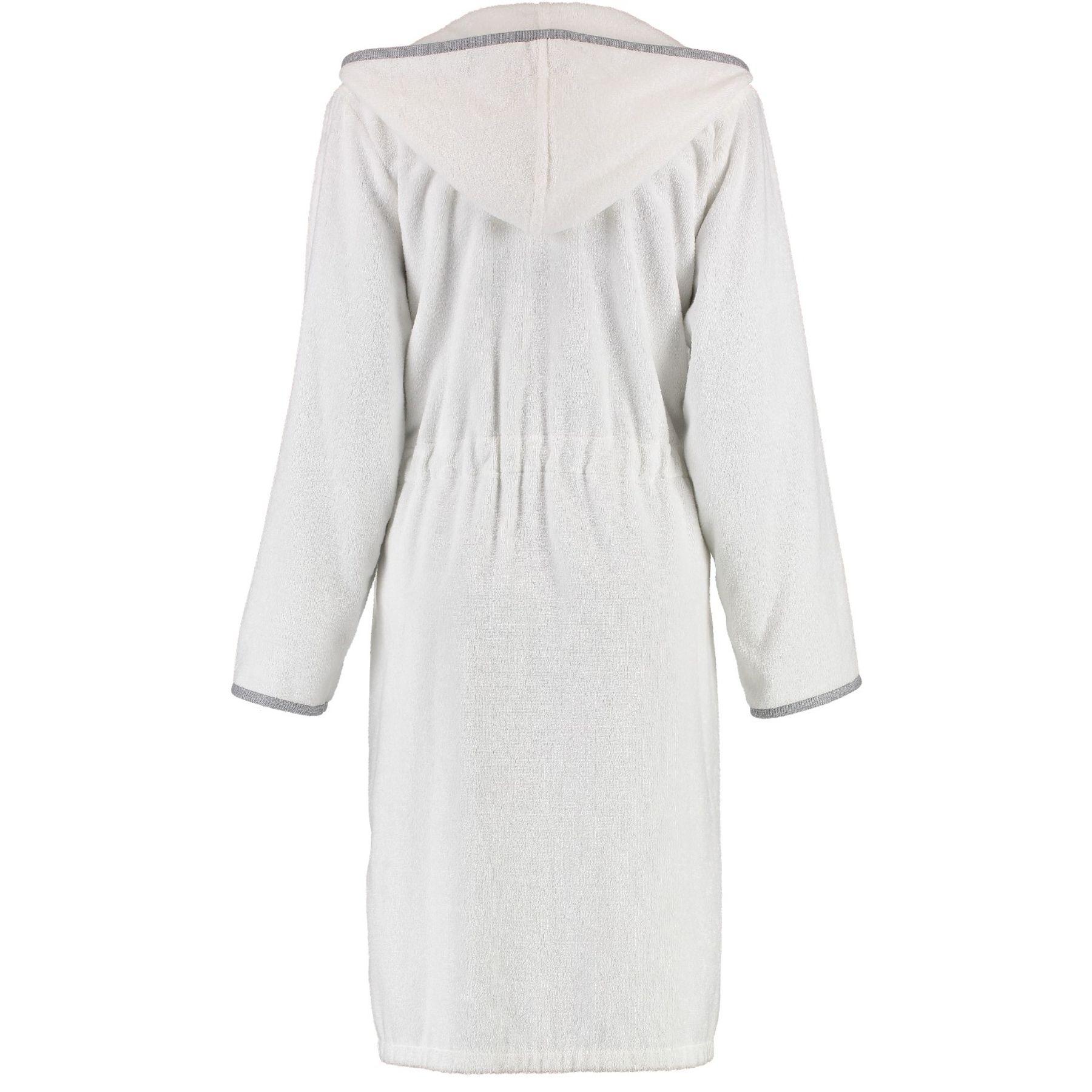 Cawö - Damen Bademantel mit Reißverschluss und Kapuze in Weiß (4103) – Bild 2