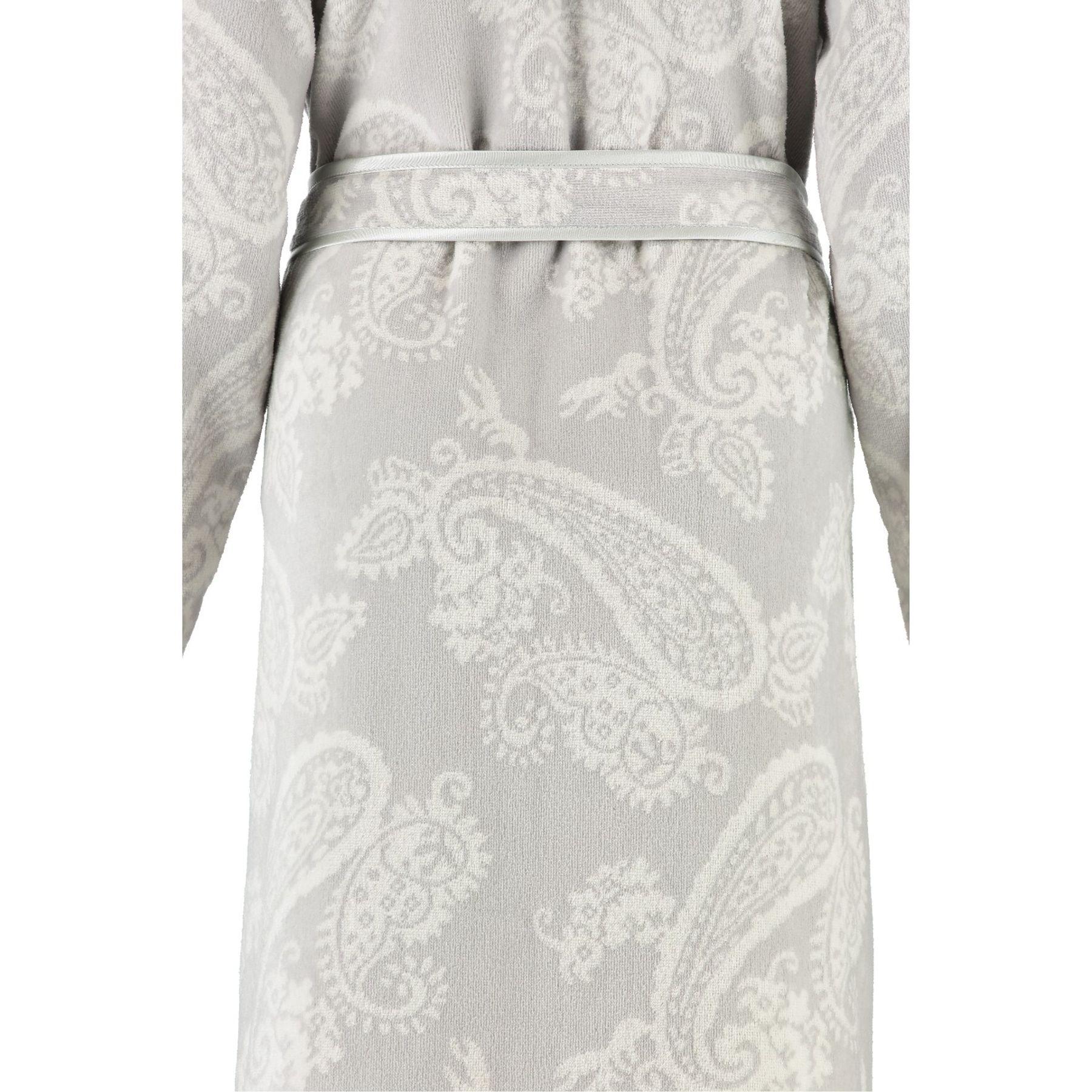 Cawö - Damen Velours Bademantel mit Schalkragen in Silber (4420) – Bild 3