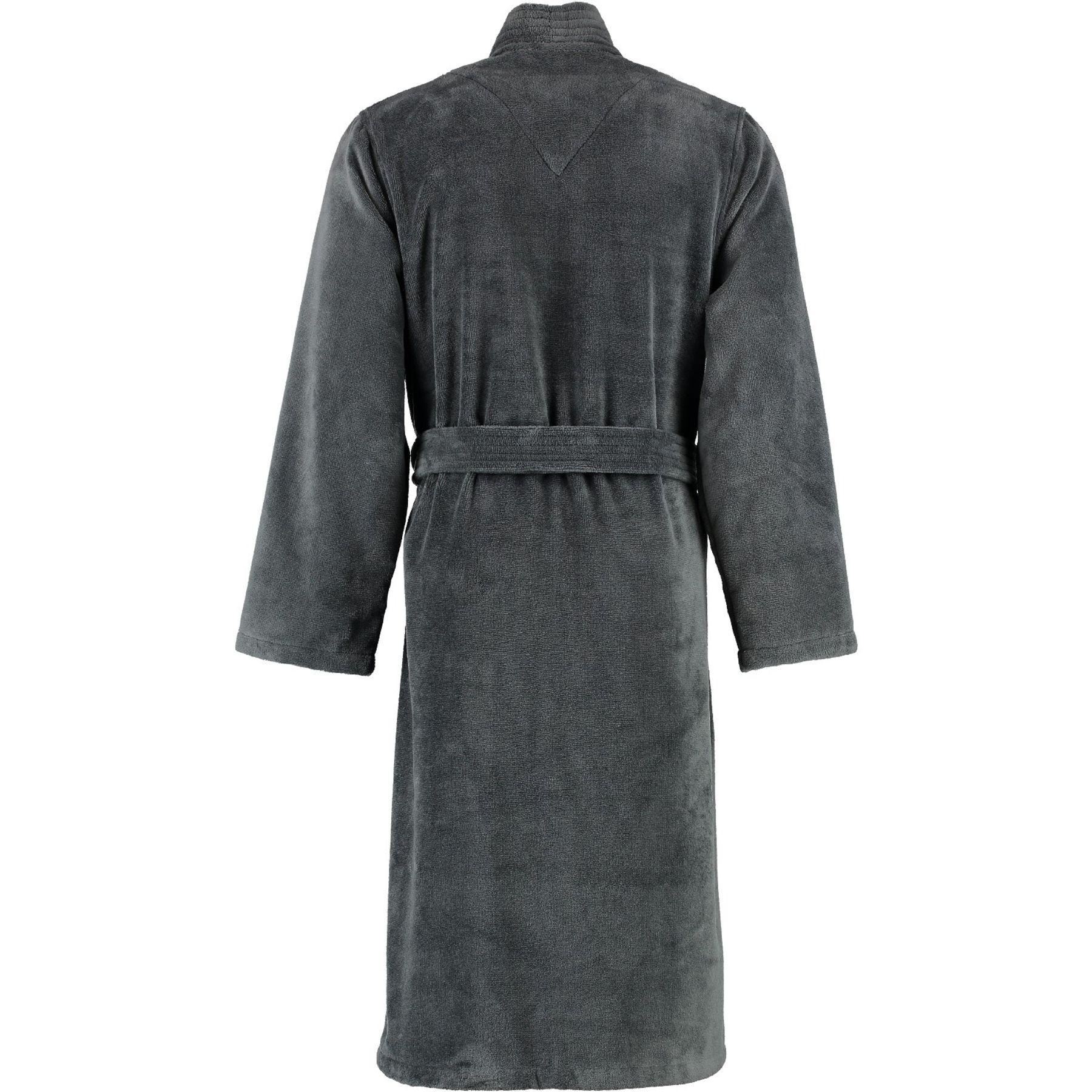 Lago - Herren Velours Bademantel mit Kimono Form in verschiedenen Farbtönen (800/LG807/GG808) – Bild 12