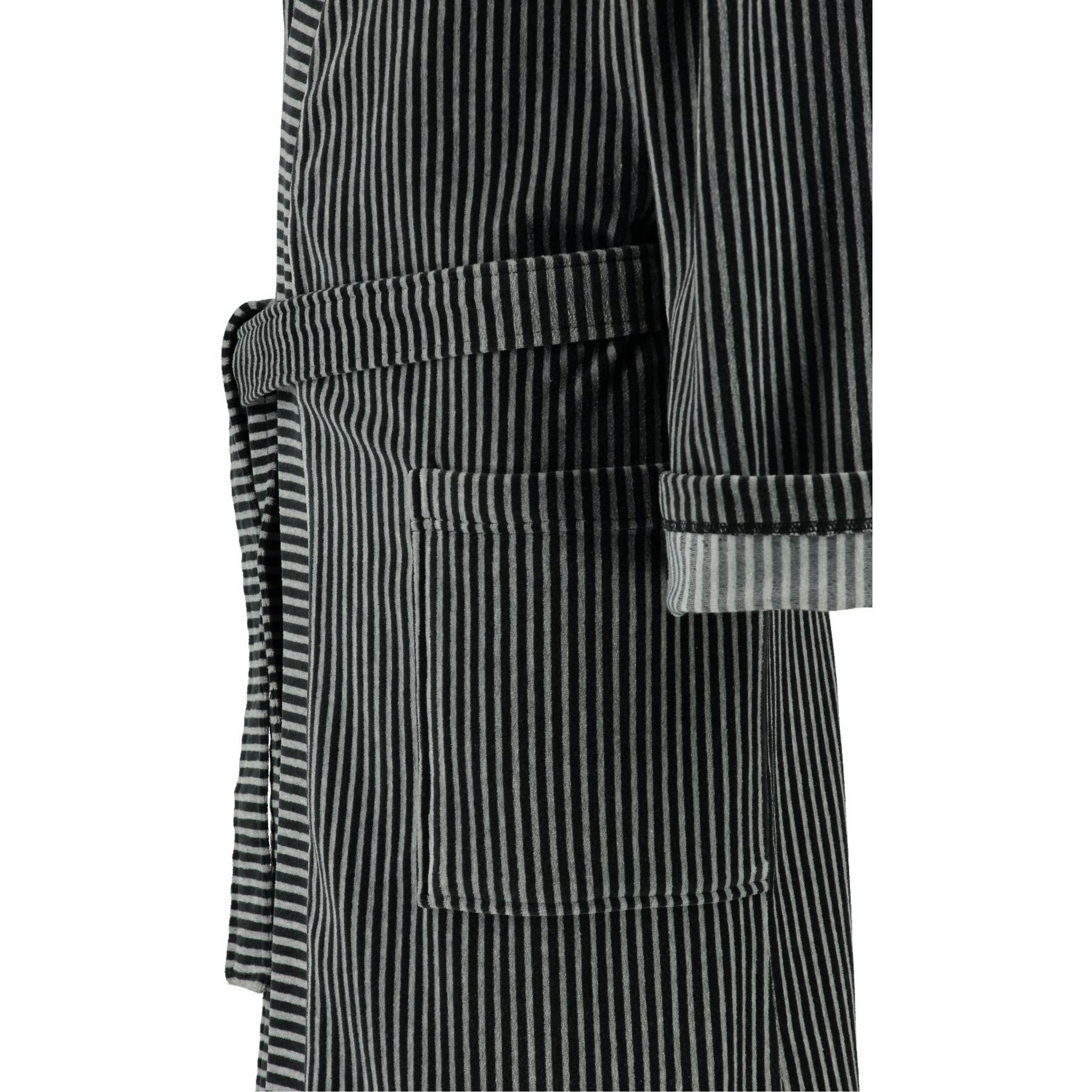 Lago - Herren Velours Bademantel mit Kimono Form in verschiedenen Farbtönen (805) – Bild 9