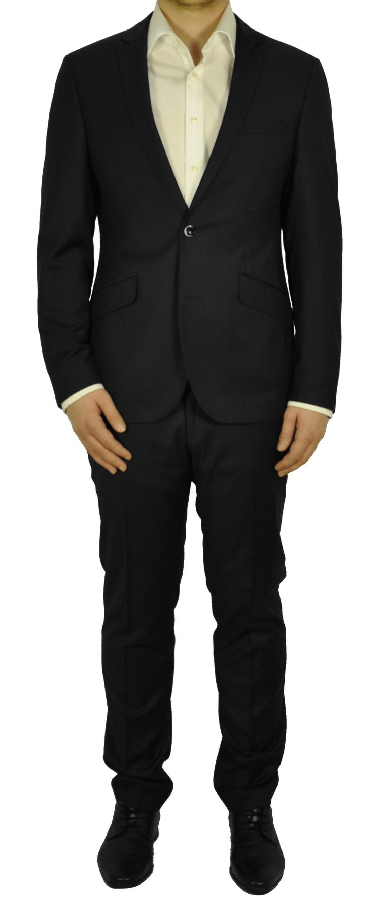 Slim Fit - Herren Anzug in den Farben Schwarz oder Anthrazit, Luca/Elio (821 1612 Form: 3215-01-25/38)