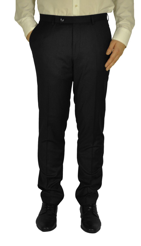 Herren Slim Fit Hose in den Farben Schwarz oder Anthrazit, Elio (821 1612 Form: 56) 001