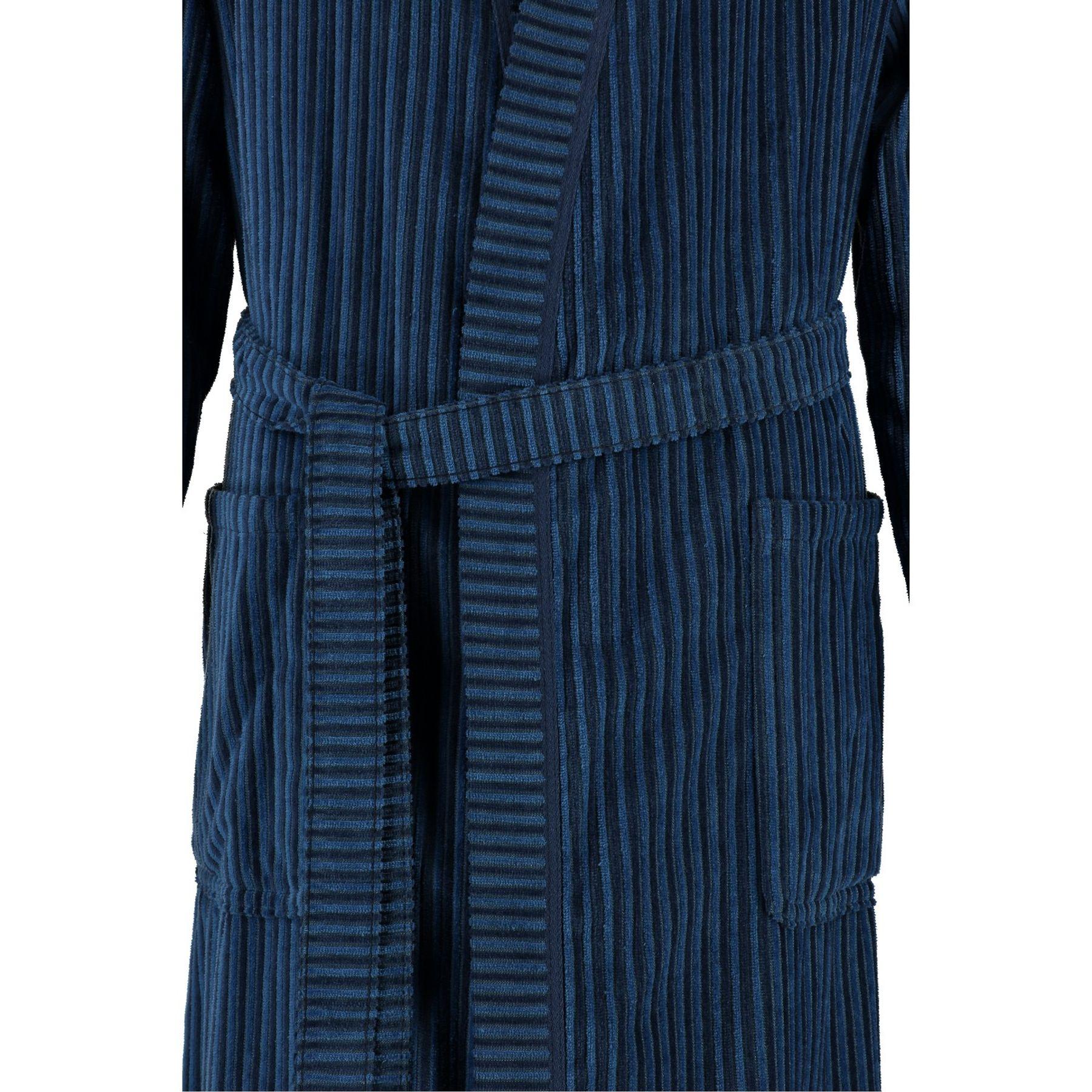 Cawö - Herren Velours Bademantel mit Kimono Form in Blau oder Nougat-braun (6842/GG8146/SG6942) – Bild 4