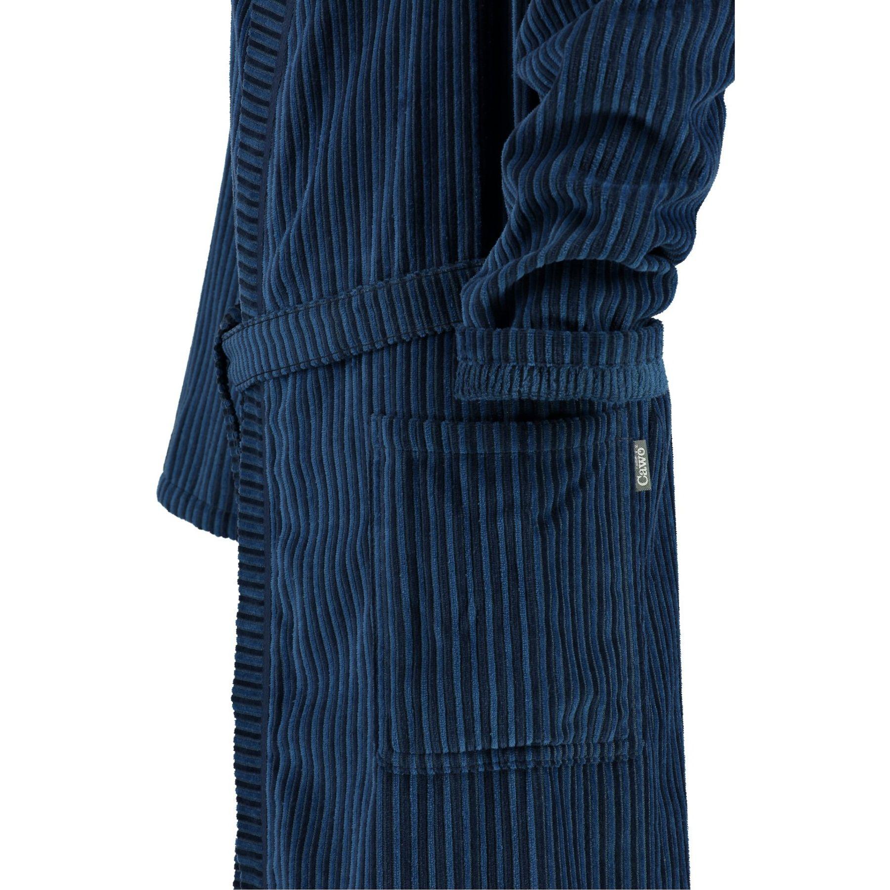 Cawö - Herren Velours Bademantel mit Kimono Form in Blau oder Nougat-braun (6842/GG8146/SG6942) – Bild 3