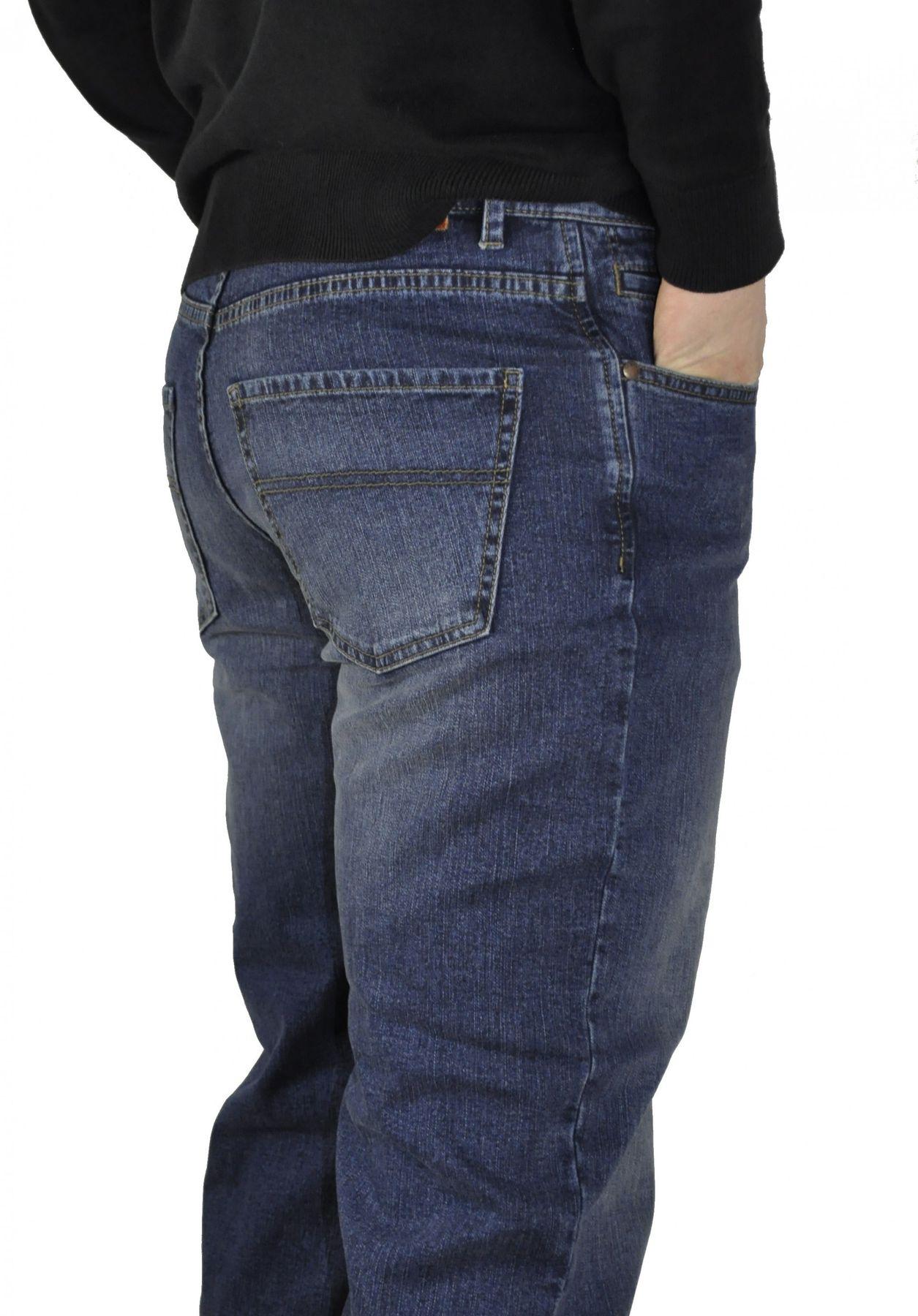 Herren 5-Pocket Jeans mit Stretch in Schwarz oder Blau – Bild 4