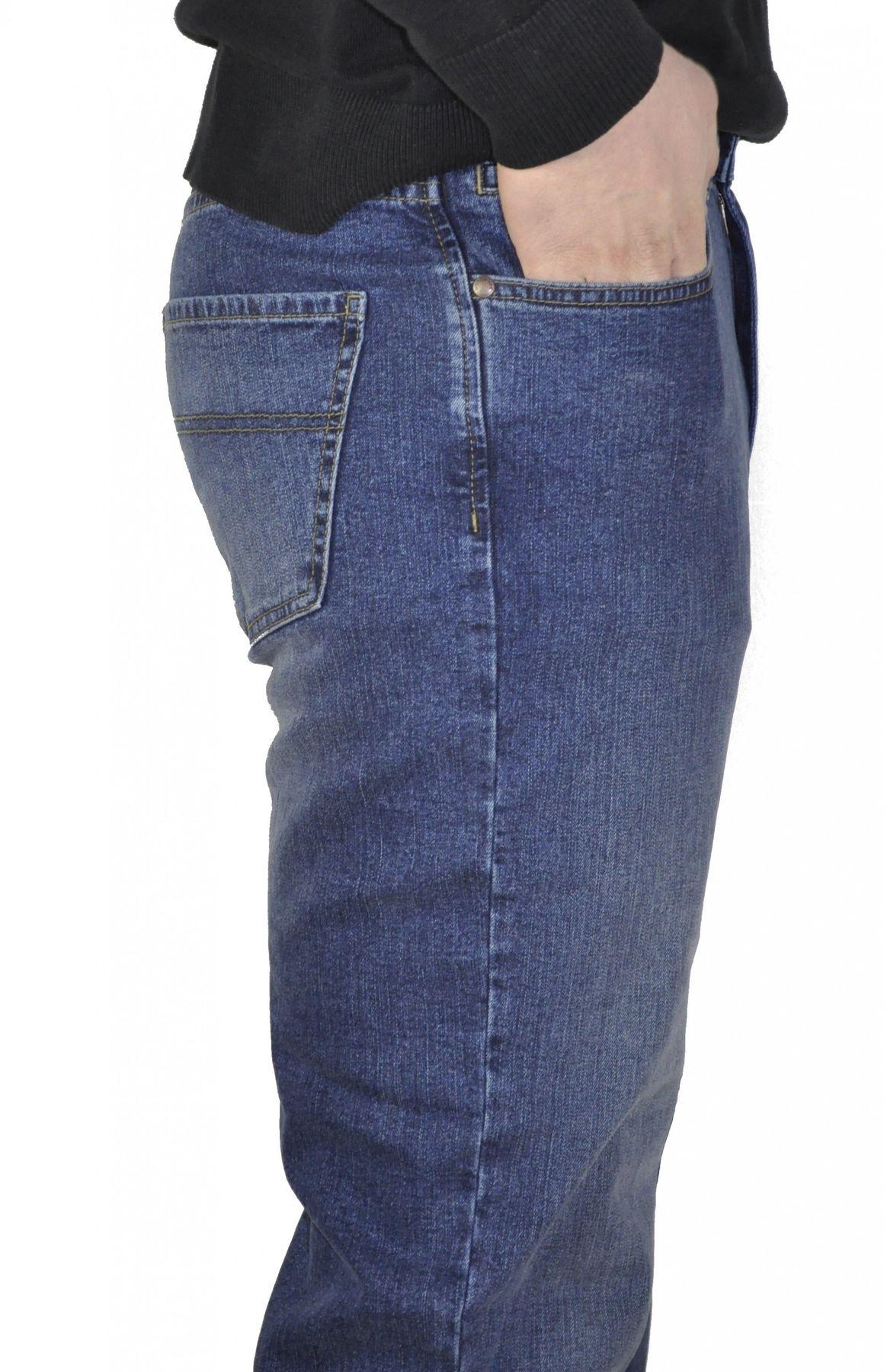 Herren 5-Pocket Jeans mit Stretch in Schwarz oder Blau – Bild 3