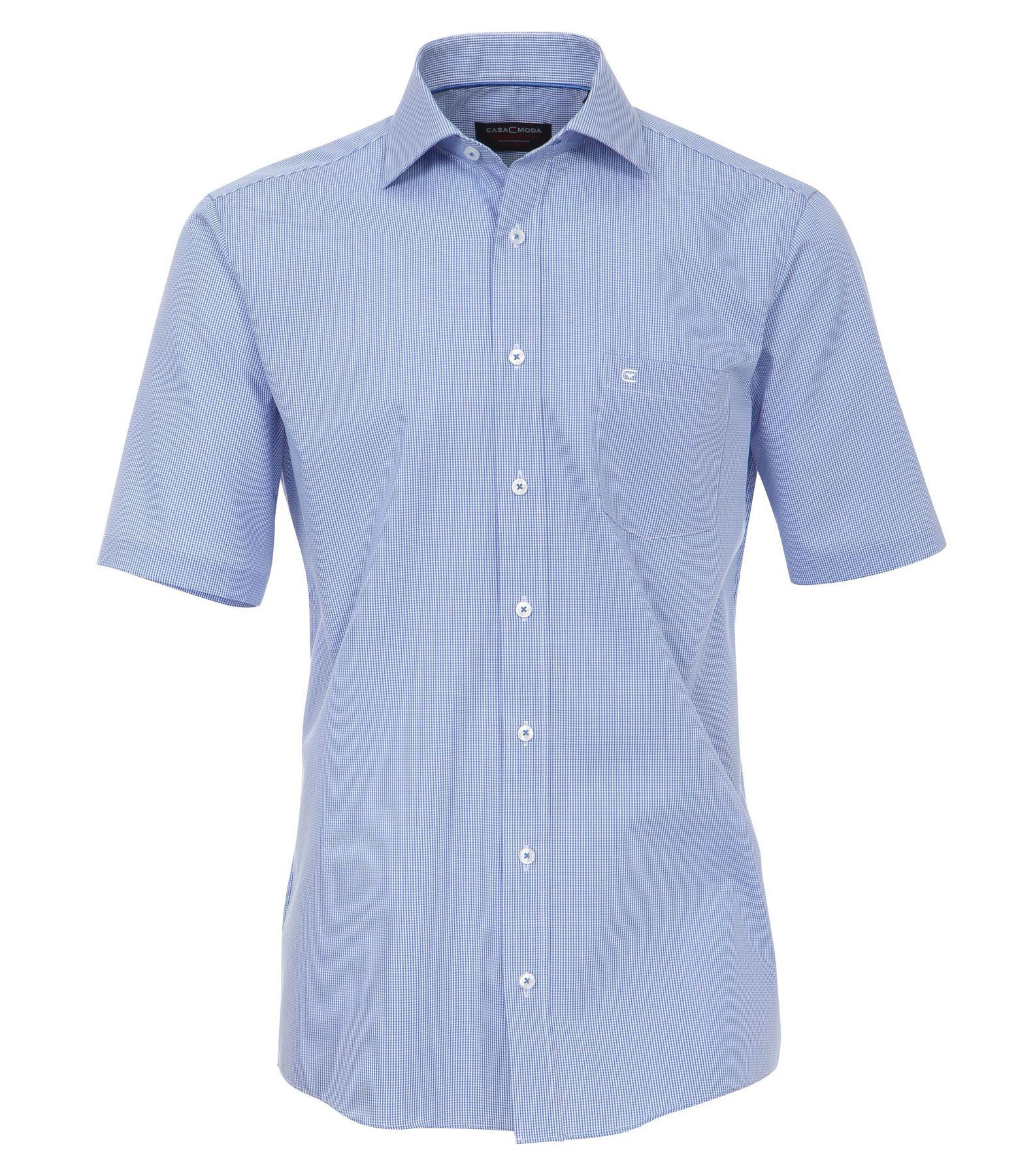 Casa Moda - Comfort Fit - Bügelfreies Herren kurzarm Hemd in verschiedenen Farben, kariert (008260)