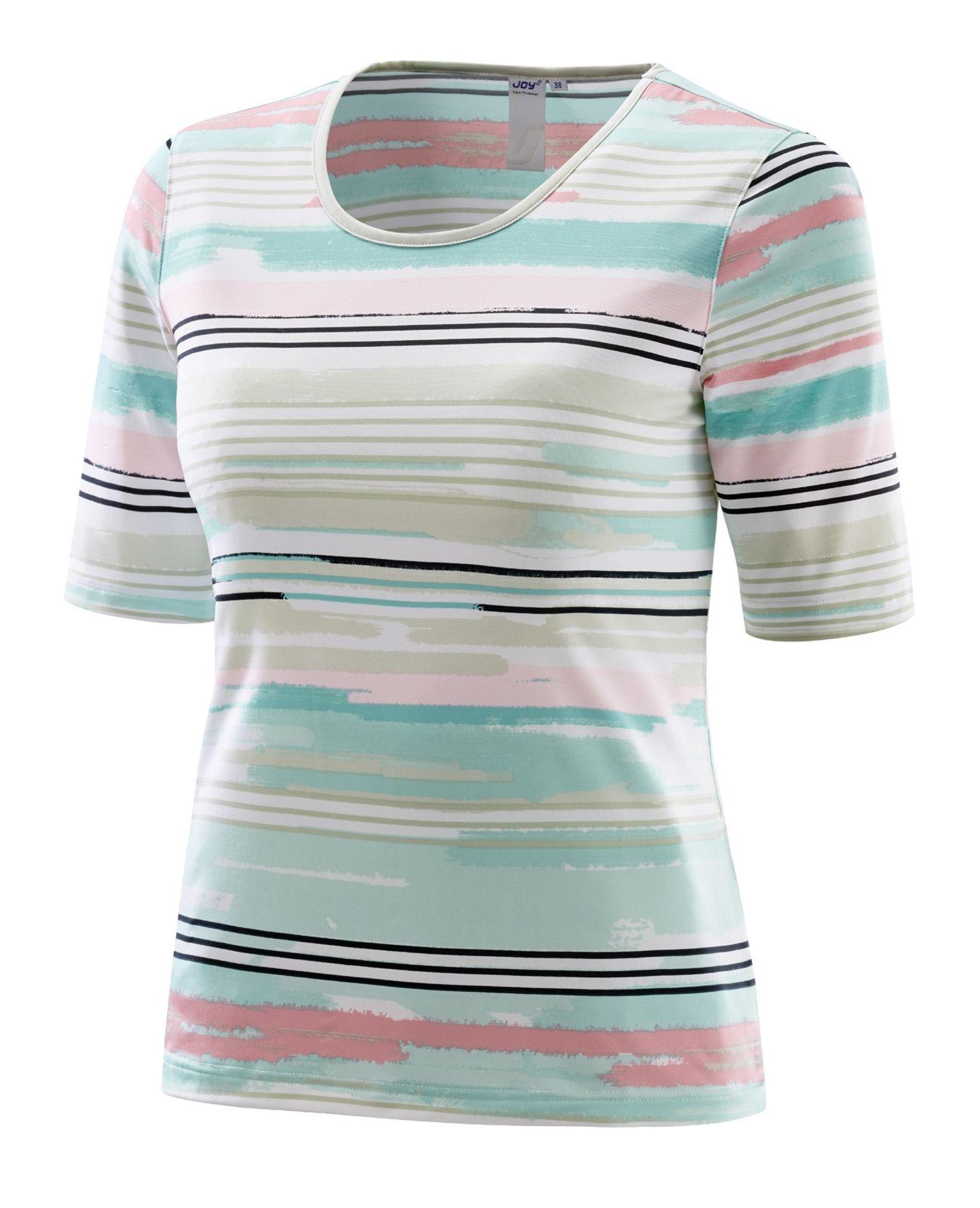 Joy - Damen Sport und Freizeit Shirt mit Streifen-Alloverprint, Alessa (30170) – Bild 2
