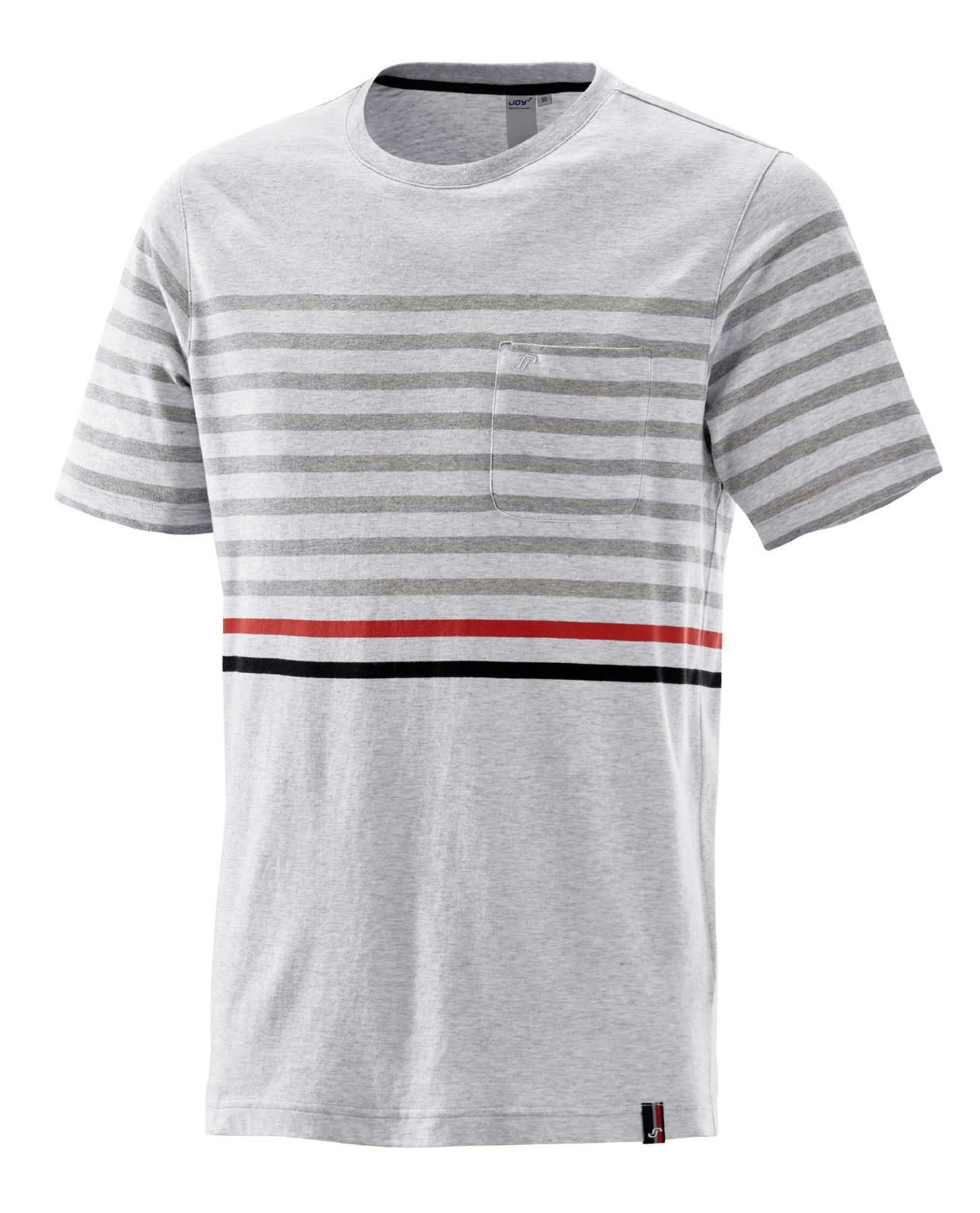 Joy - Herren Sport und Freizeit Shirt mit platziertem Streifen-Design, Valentino (40190A)