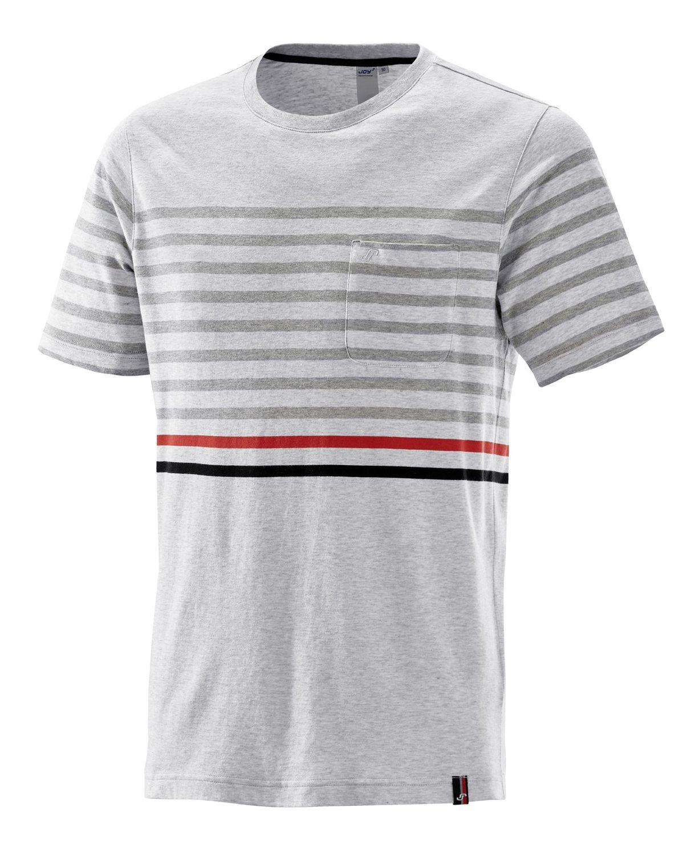 Joy - Herren Sport und Freizeit Shirt mit platziertem Streifen-Design, Valentino (40190A) 001