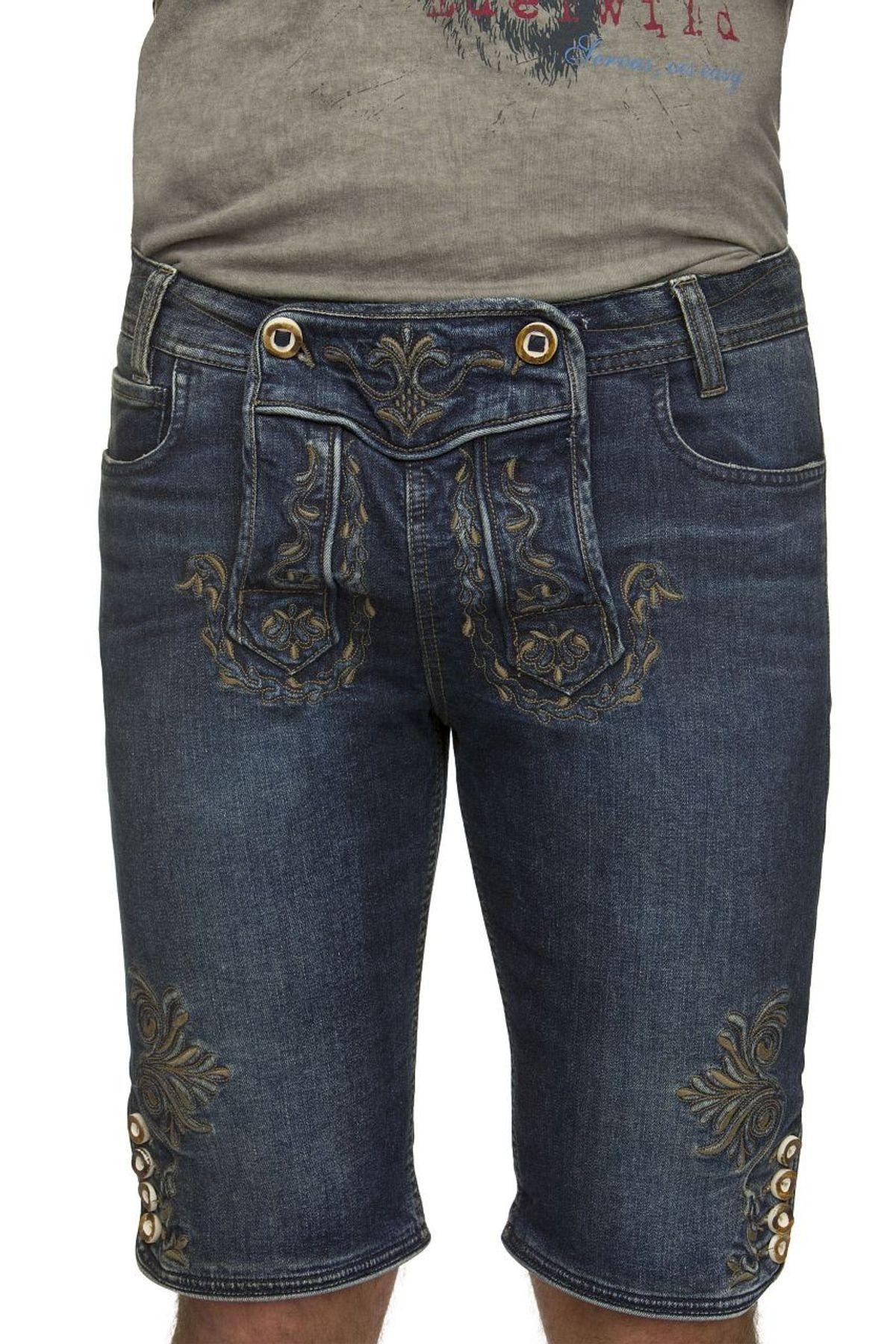 Stockerpoint - Herren Trachtenshort Jeans, Mick – Bild 3