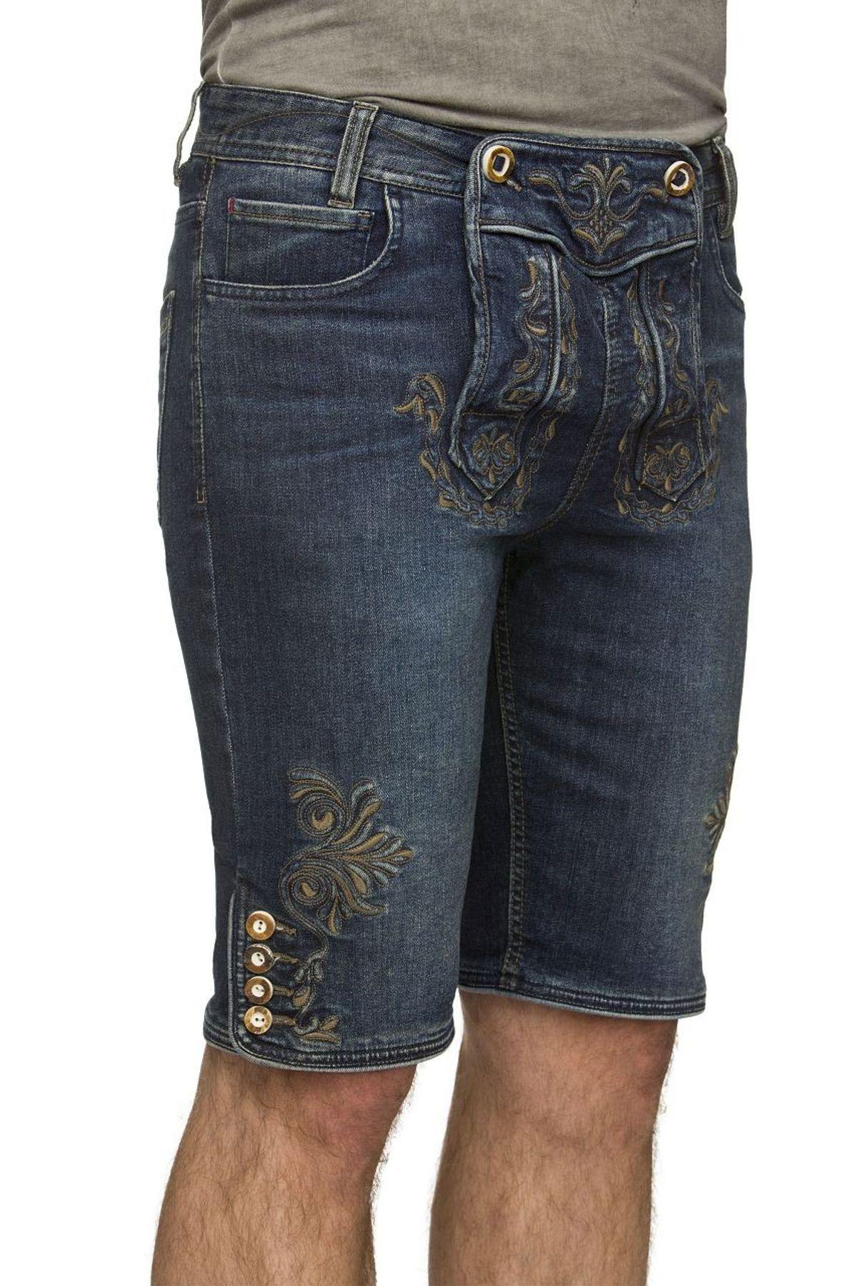 Stockerpoint - Herren Trachtenshort Jeans, Mick – Bild 4