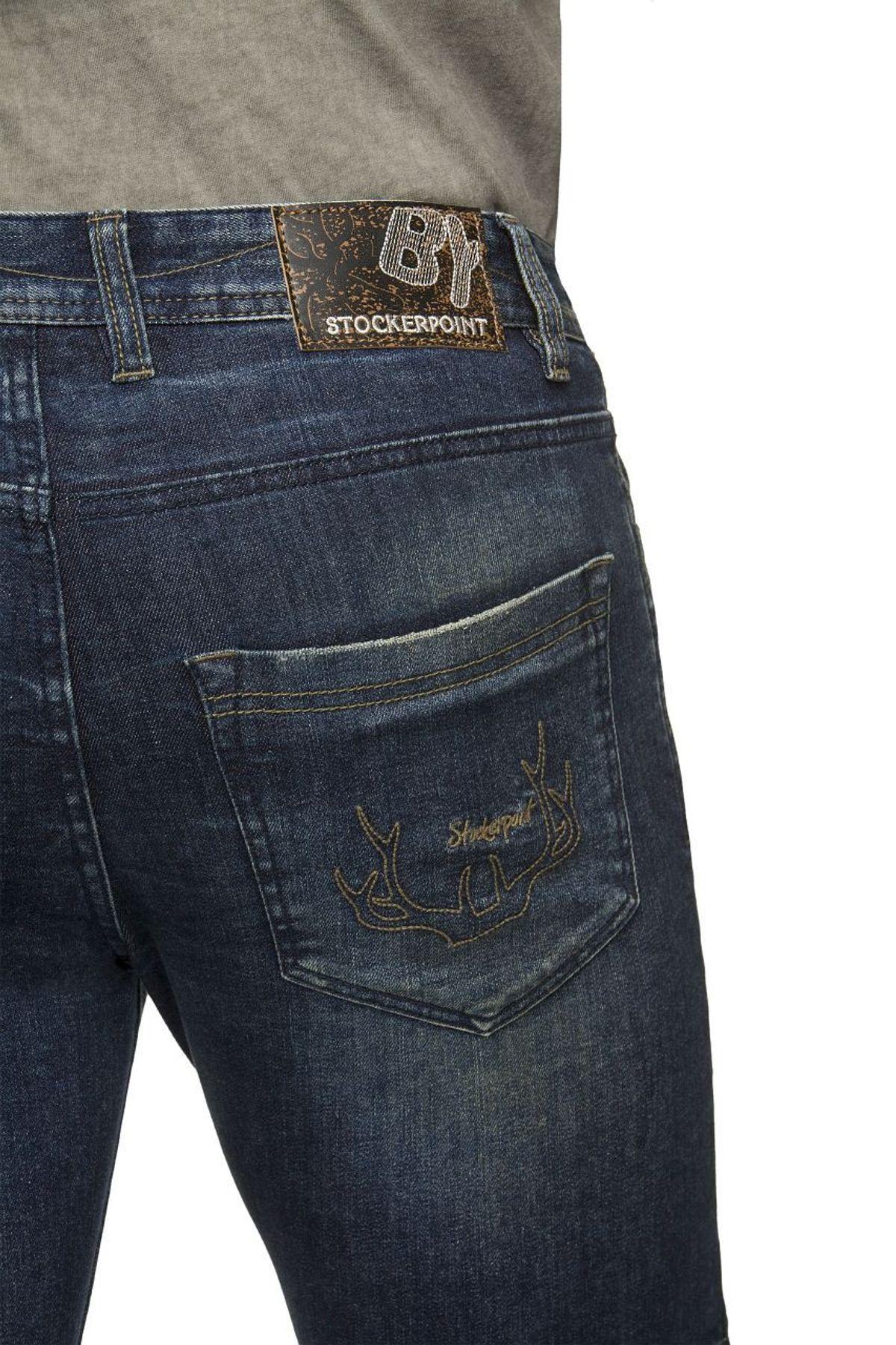 Stockerpoint - Herren Trachtenshort Jeans, Mick – Bild 5