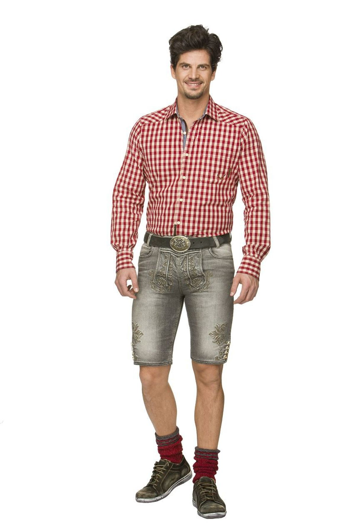 Stockerpoint - Herren Trachtenshort Jeans, Mick – Bild 7
