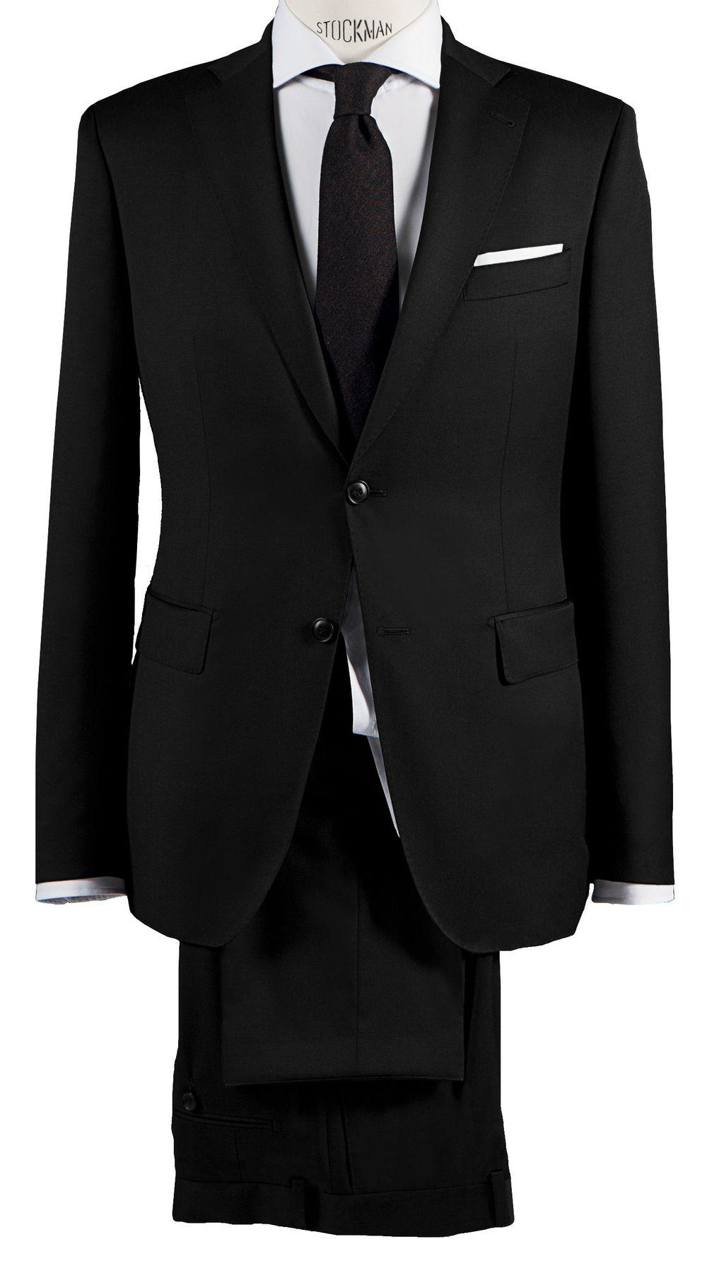 Barutti - Tailored Fit - Herren Baukasten Anzug aus reiner Super 150'S Schurwolle in Schwarz, Anthrazit oder Blau, 900 8008 (Tarso AMF/Tosco) – Bild 3