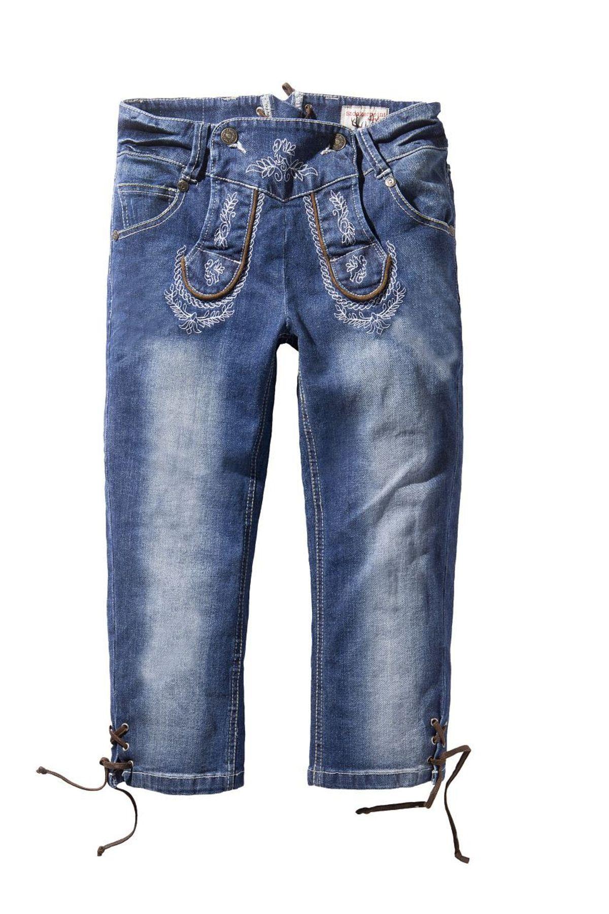 Stockerpoint - Damen Trachten Jeanshose Kniebund Trueblue, Momo – Bild 1