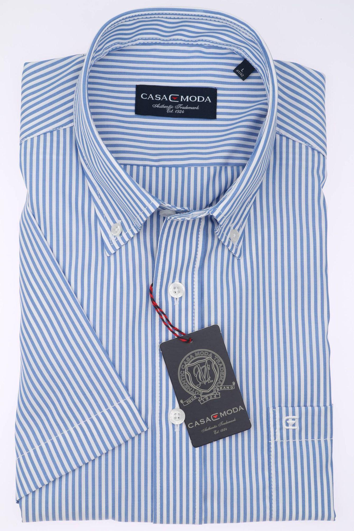 save off a50bb 96bd6 Casa Moda - Herren Kurzarm Freizeithemd mit Button-Down Kragen 962639600A