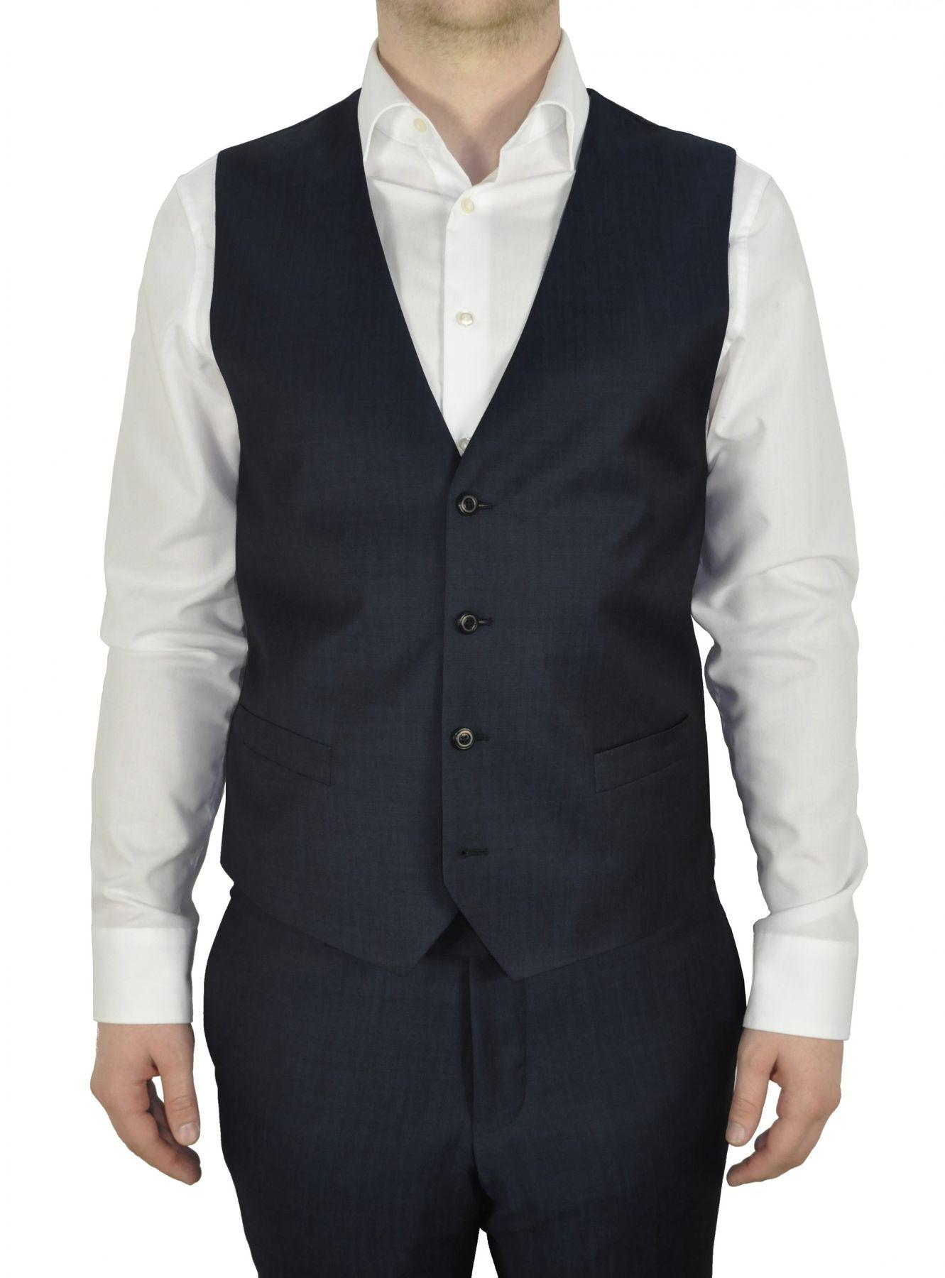 Masterhand - Tailored Fit - Herren Baukasten Weste aus 84% Schurwolle und 16% Mohair in verschiedenen Farben, 900 8095 (Team) – Bild 3