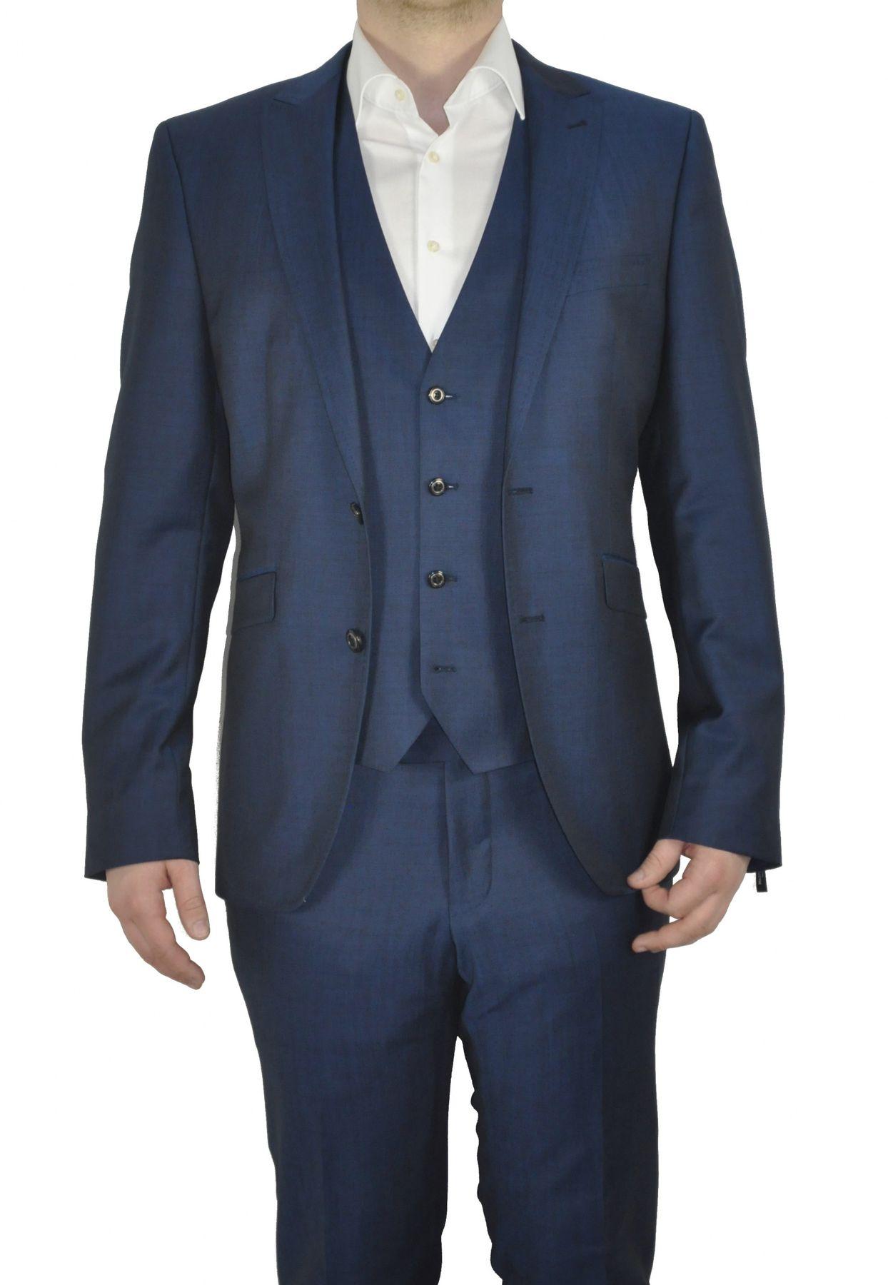 Masterhand - Tailored Fit - Herren Baukasten Weste aus 84% Schurwolle und 16% Mohair in verschiedenen Farben, 900 8095 (Team) – Bild 2