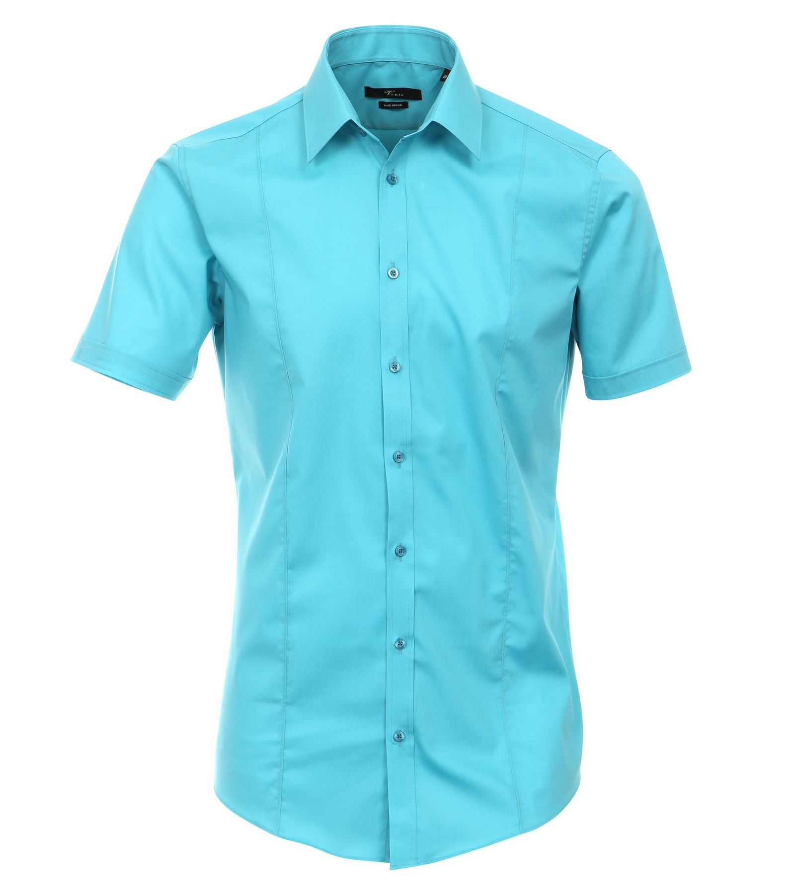Venti - Body Stretch/ Super Slim Fit - Bügelfreies Herren Kurzarm Hemd in verschiedenen Farben (001670 A)  – Bild 1