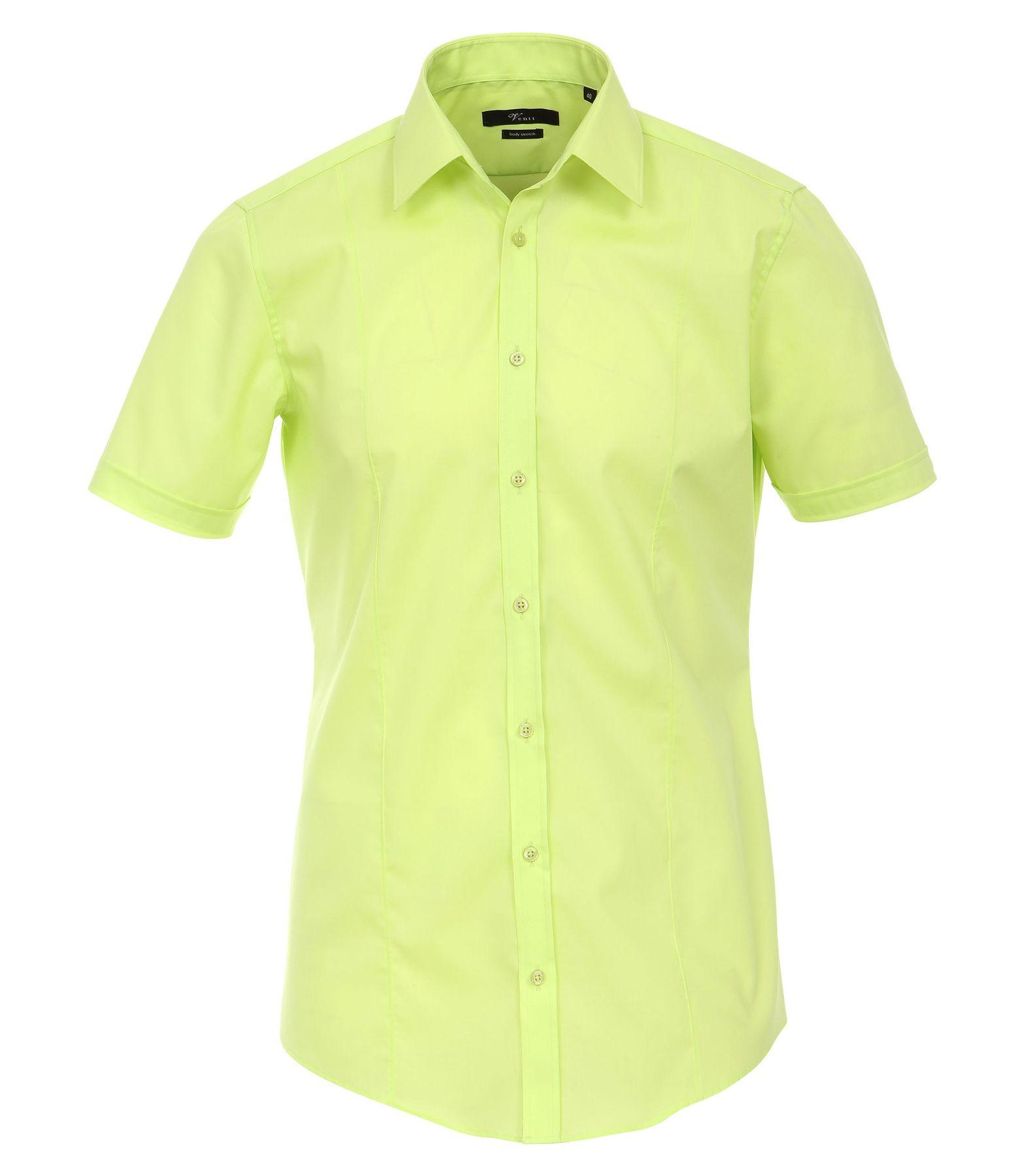 Venti - Body Stretch/ Super Slim Fit - Bügelfreies Herren Kurzarm Hemd in verschiedenen Farben (001670 A)  – Bild 6