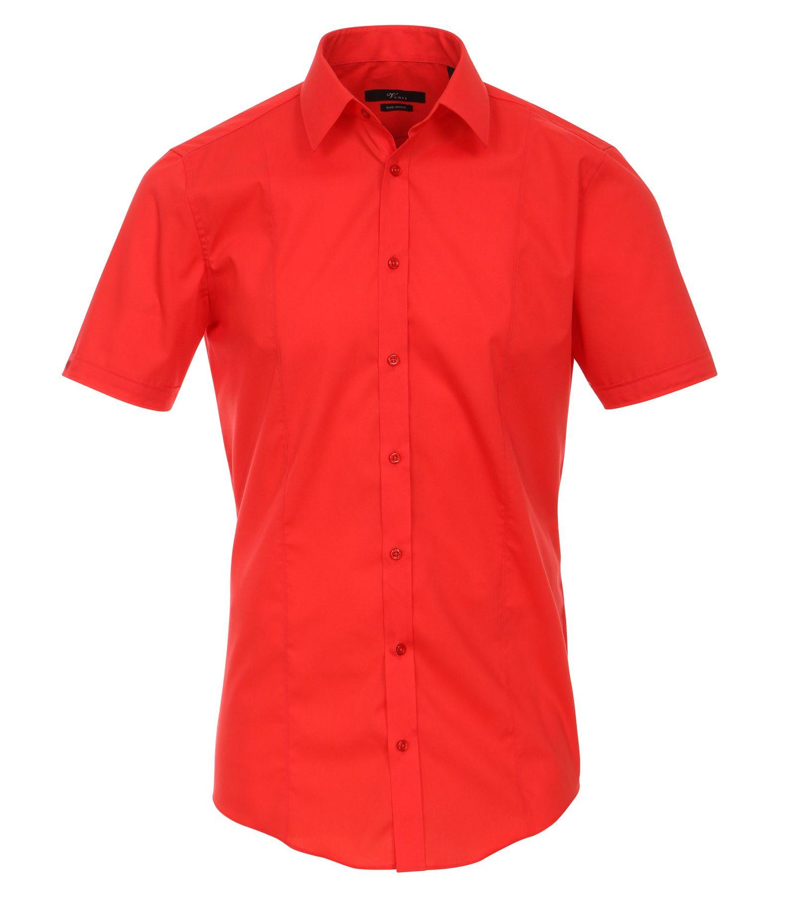 Venti - Body Stretch/ Super Slim Fit - Bügelfreies Herren Kurzarm Hemd in verschiedenen Farben (001670 A)  – Bild 15