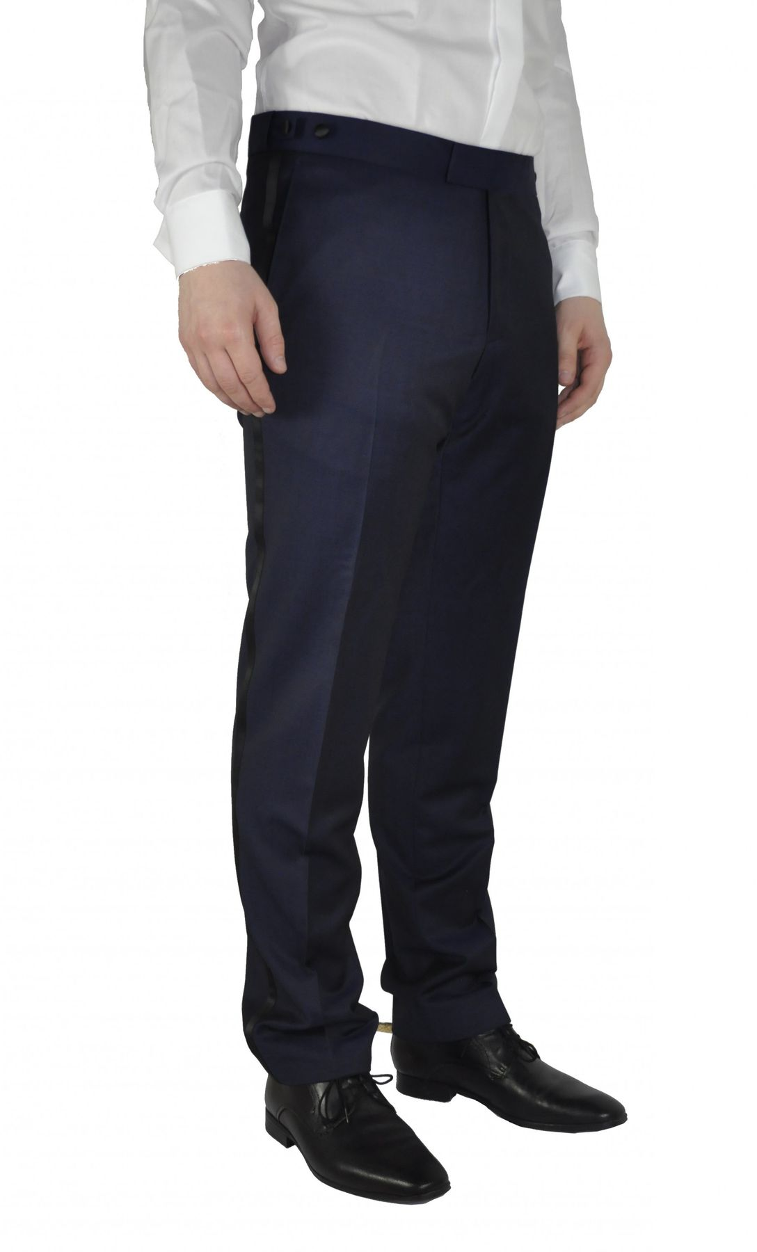 Masterhand - Tailored Fit - Festliche Herren Smoking Hose in Blau, 900 8095 (Tam) – Bild 1