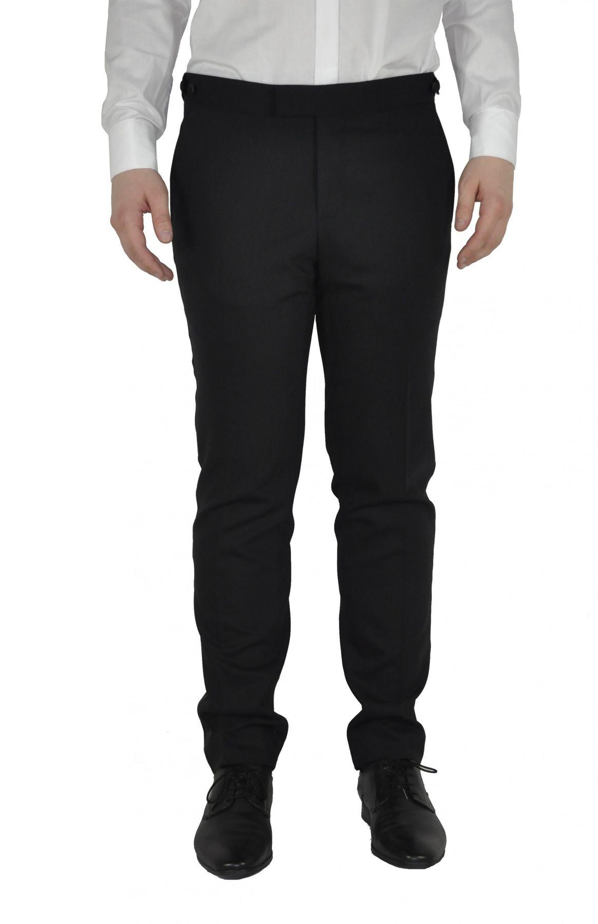 Masterhand - Slim Fit - Festliche Herren Smoking Hose aus reiner Schurwolle in Schwarz, 900 8001 (Stacy) – Bild 1