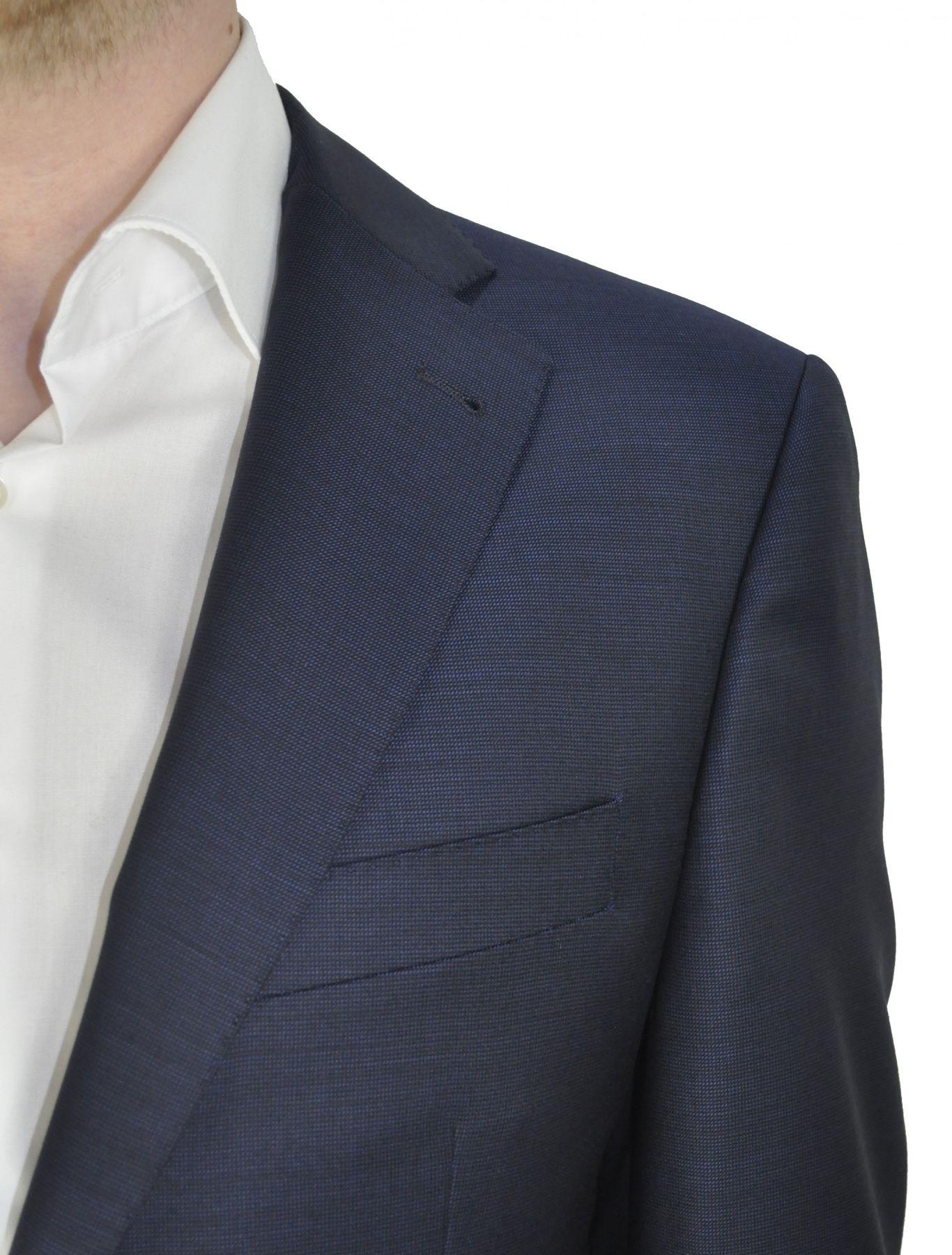 Barutti - Tailored Fit - Herren Sakko aus reiner Super 120'S Schurwolle, Meliert, 900 8005 (Tarso AMF) – Bild 4