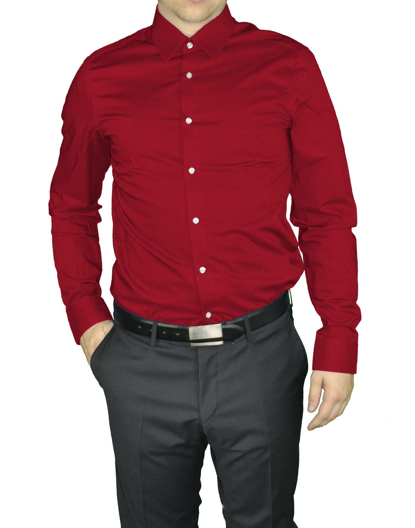Redmond - Slim Fit - Herren Langarm Hemd in verschiedenen Farbvarianten, Unifarben, Bügelleicht (400130A) – Bild 8