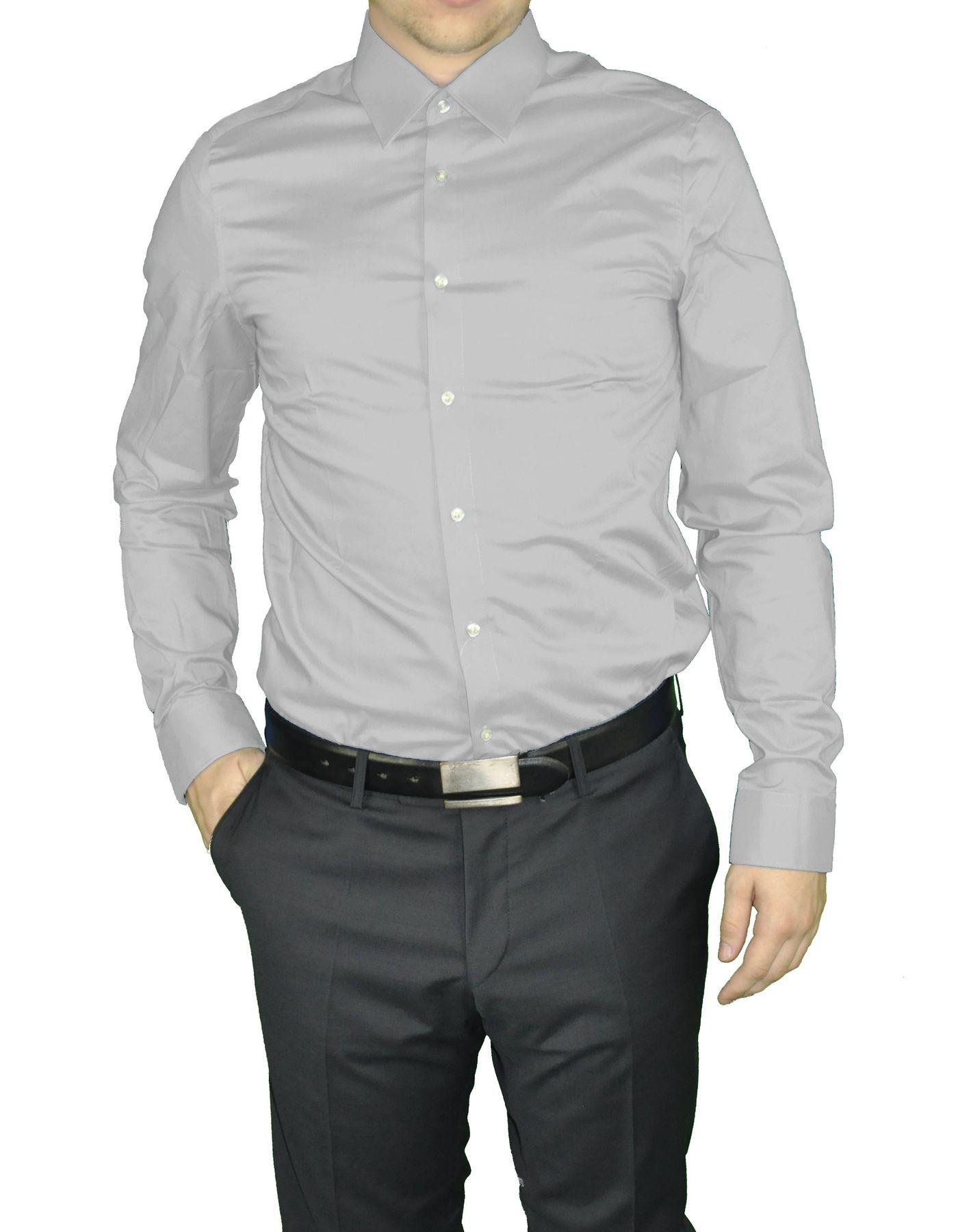 Redmond - Slim Fit - Herren Langarm Hemd in verschiedenen Farbvarianten, Unifarben, Bügelleicht (400130A) – Bild 10