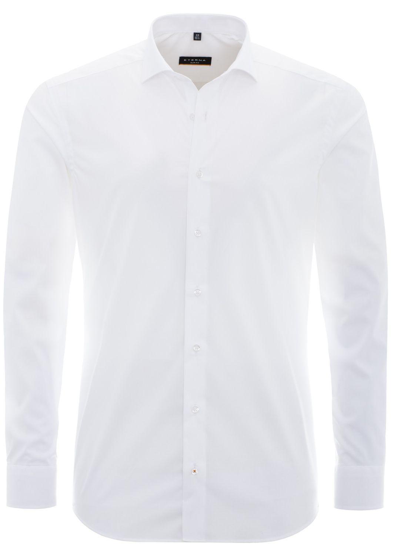 Eterna - Slim Fit - Herren Langarm Hemd mit Stretch Anteil und extra langem Arm (72cm), Bügelfrei (8424 F182-72cm)