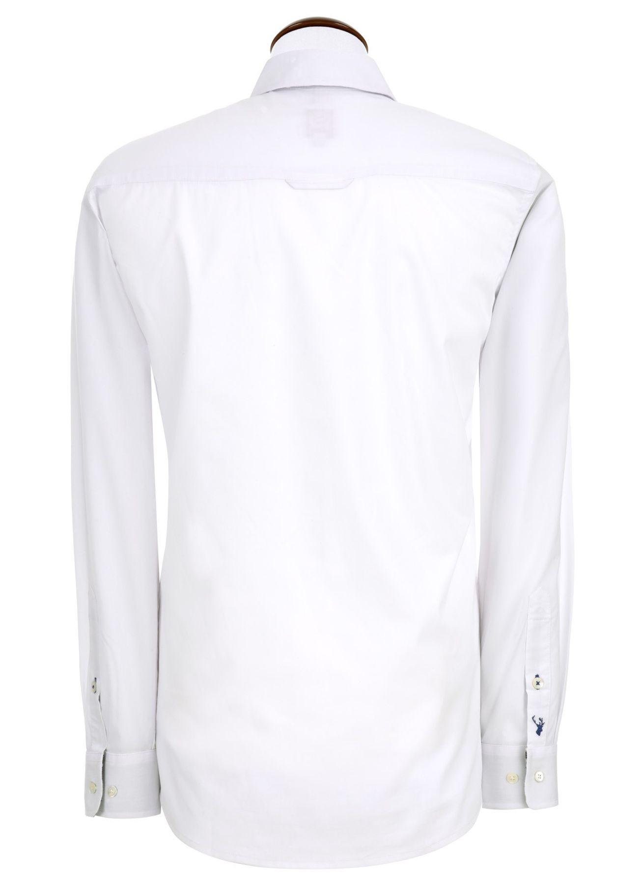 Spieth & Wensky - Slim Line - Herren Trachten Hemd mit Kent Kragen mit farblichen Highlights (240770-0755) – Bild 4
