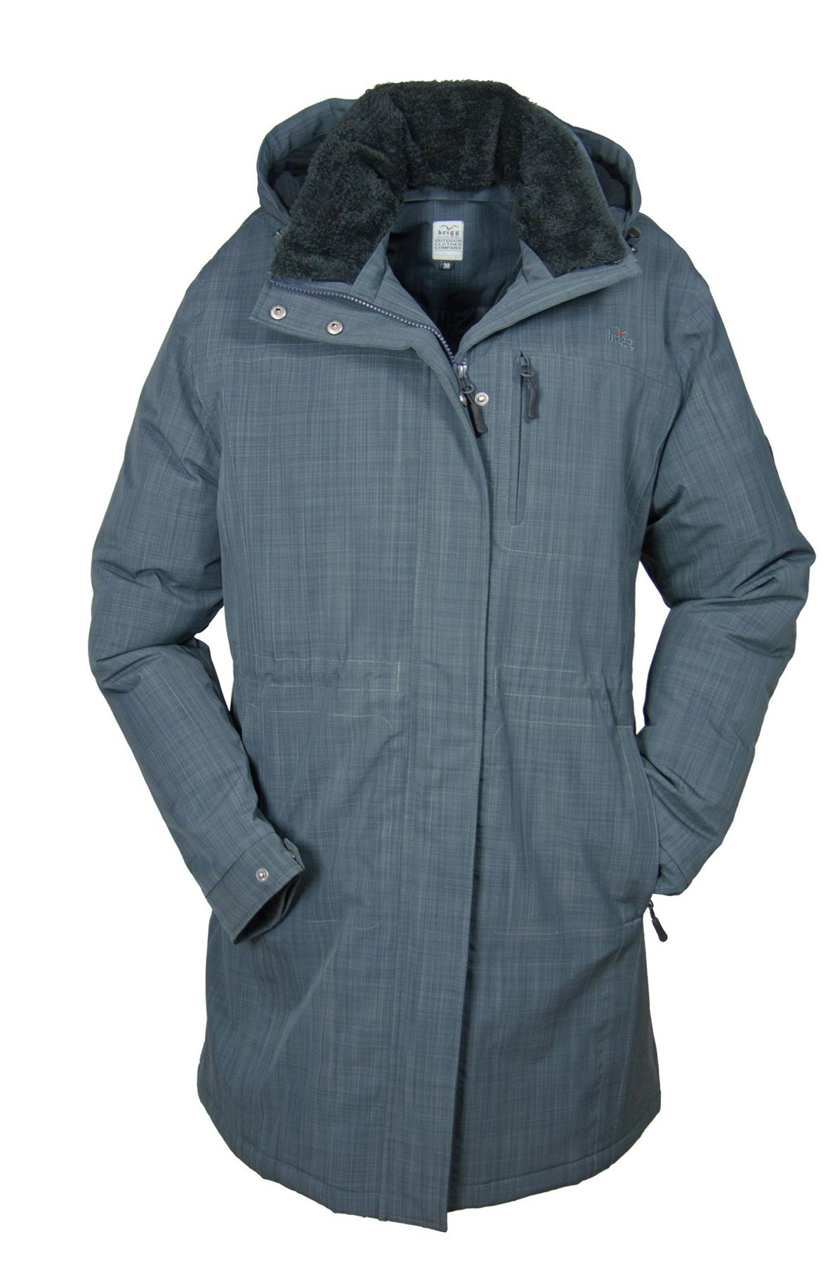 Brigg - Damen Funktions Mantel, Farbe Granit (10 778 516)
