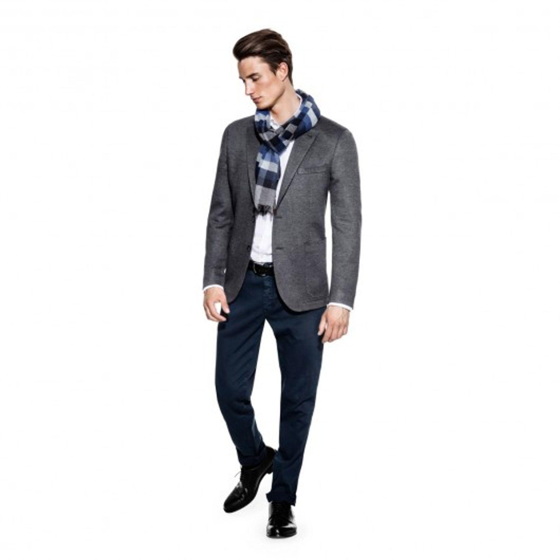 Benvenuto Black - Modern Fit - Herren Jersey Sakko in modischer Optik, Riva (20790, Modell: 62568) – Bild 2