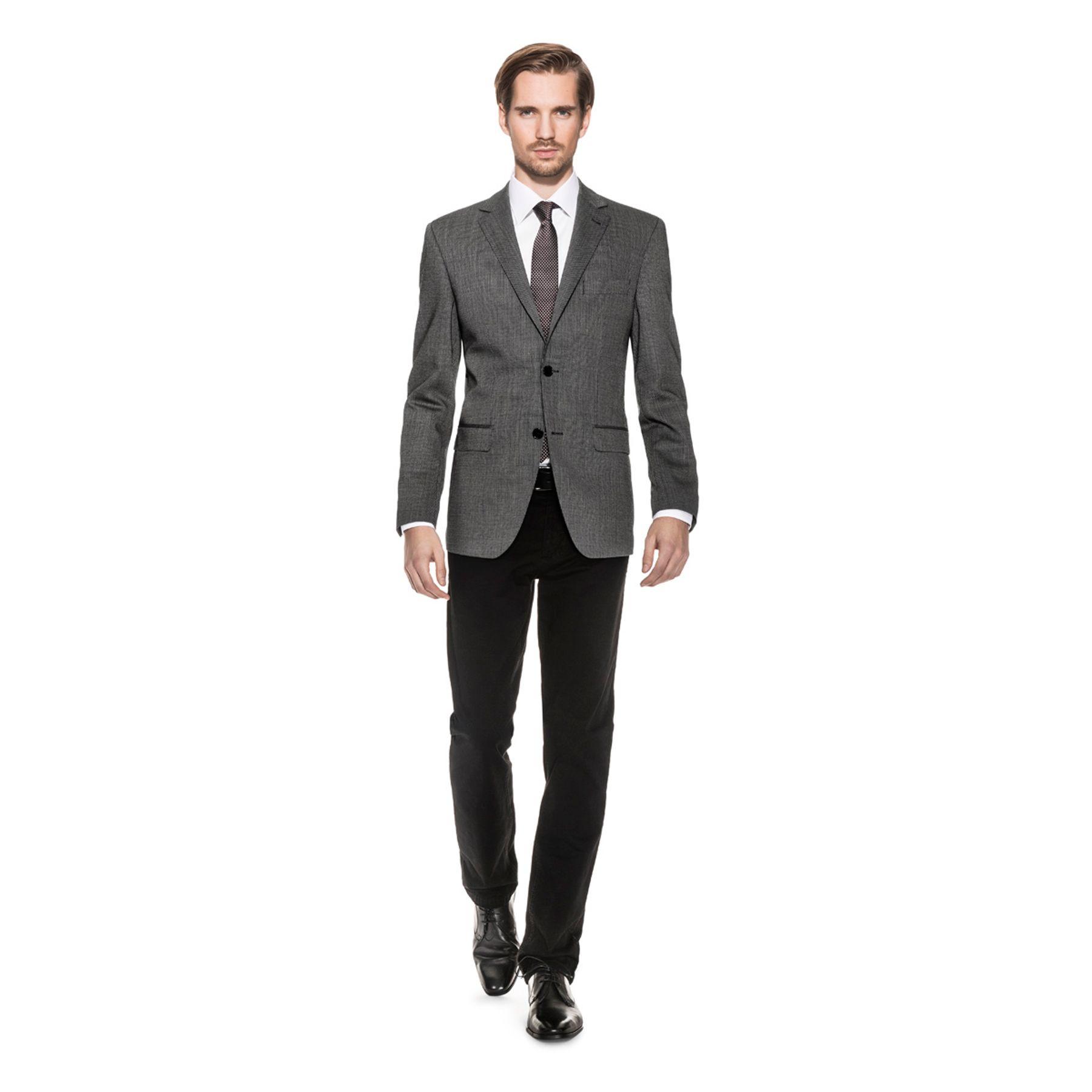 Benvenuto Black - Regular Fit - Herren Sakko in trendigem Kleinmuster aus hochwertiger Schurwollmischung, Leonardos (20688, Modell: 60080) – Bild 4