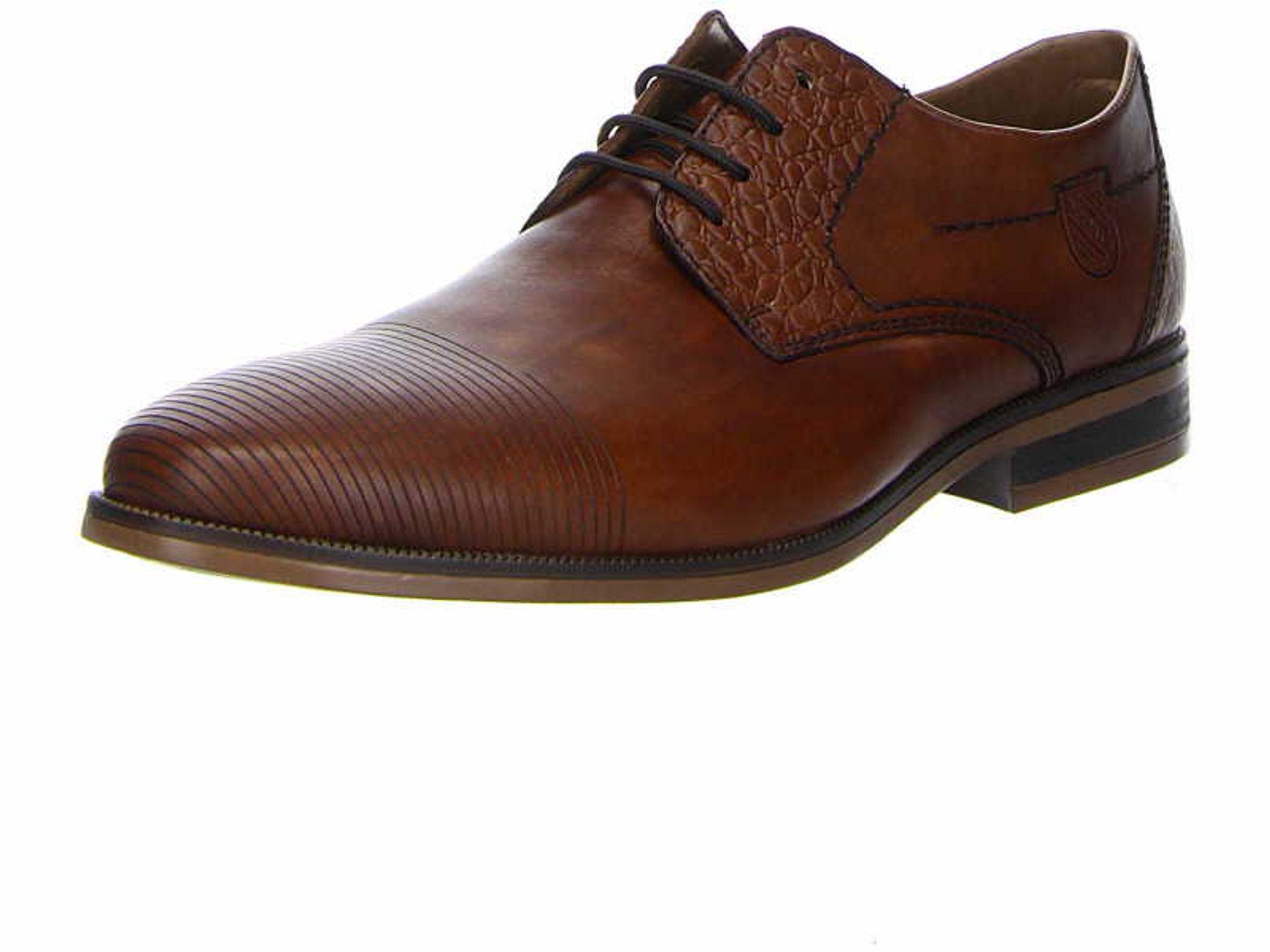 Rieker - Herren Schnür Schuh aus echtem Leder in Braun, Clarino (11621) – Bild 3