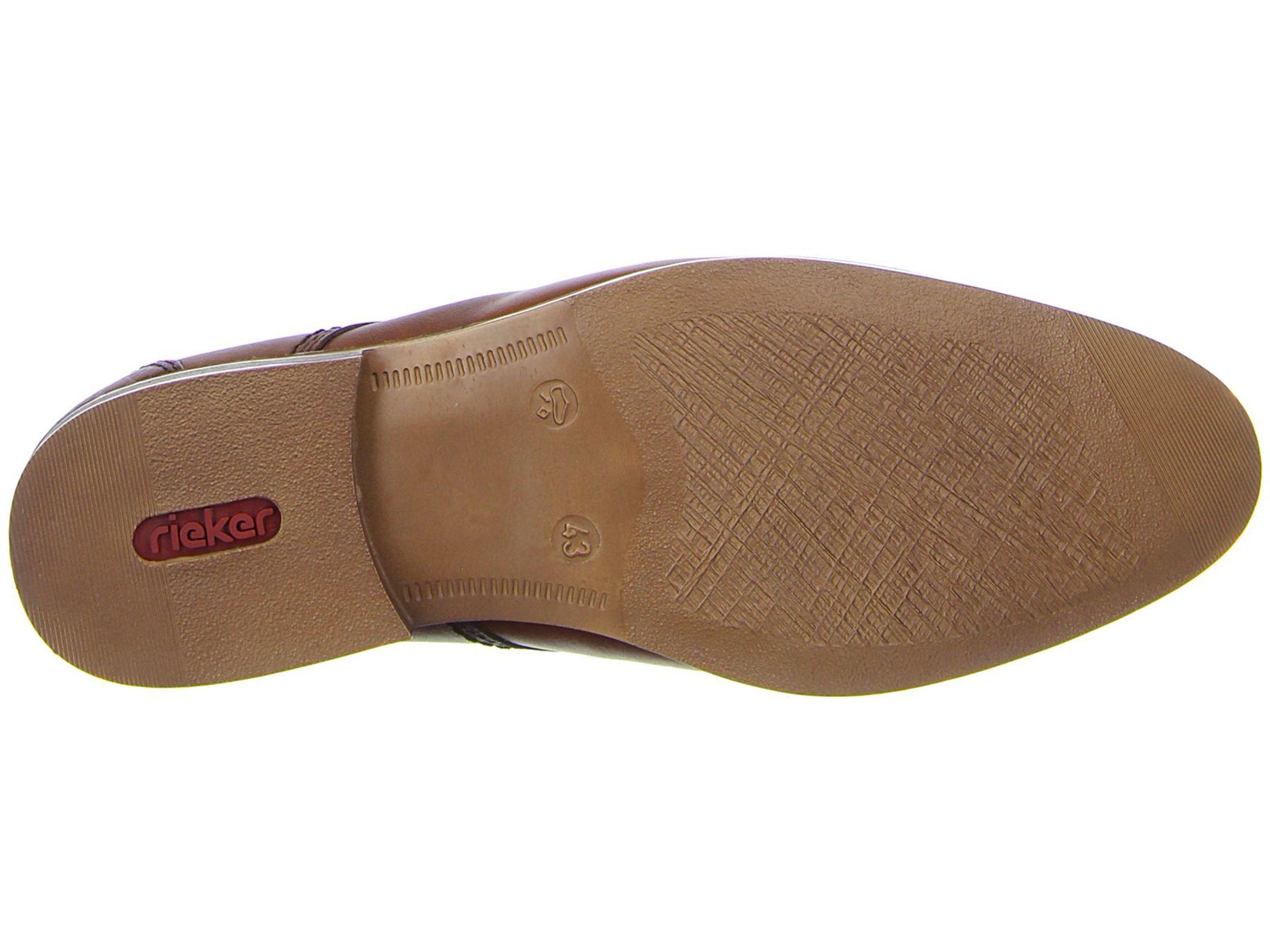 Rieker - Herren Schnür Schuh aus echtem Leder in Braun, Clarino (11621) – Bild 6