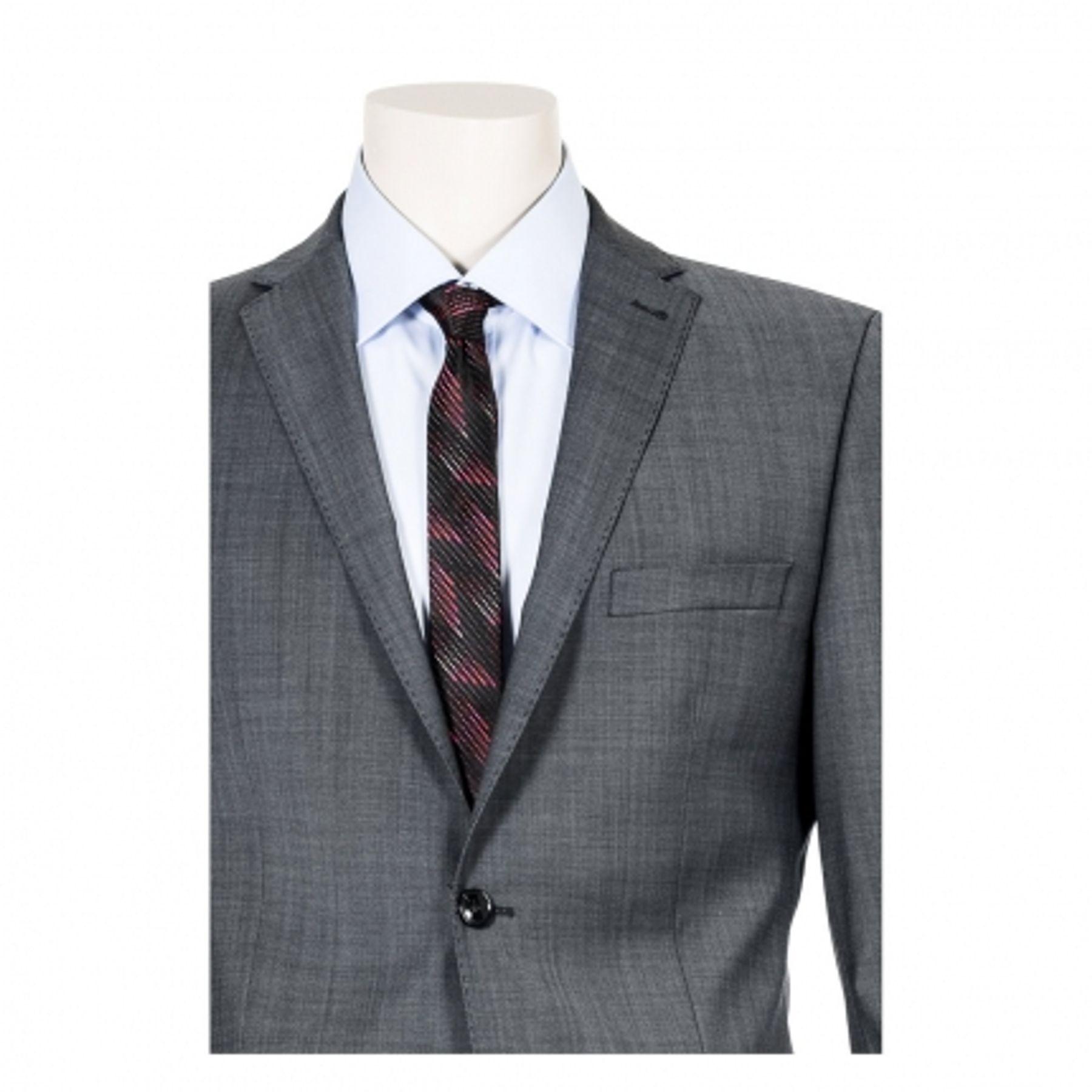 Benvenuto Purple - Slim Fit - Herren Baukasten Sakko für Jungen Trend-Anzug mit sehr schlankem Schnitt in Anthrazit, Adon (20776, Modell: 61350) – Bild 2