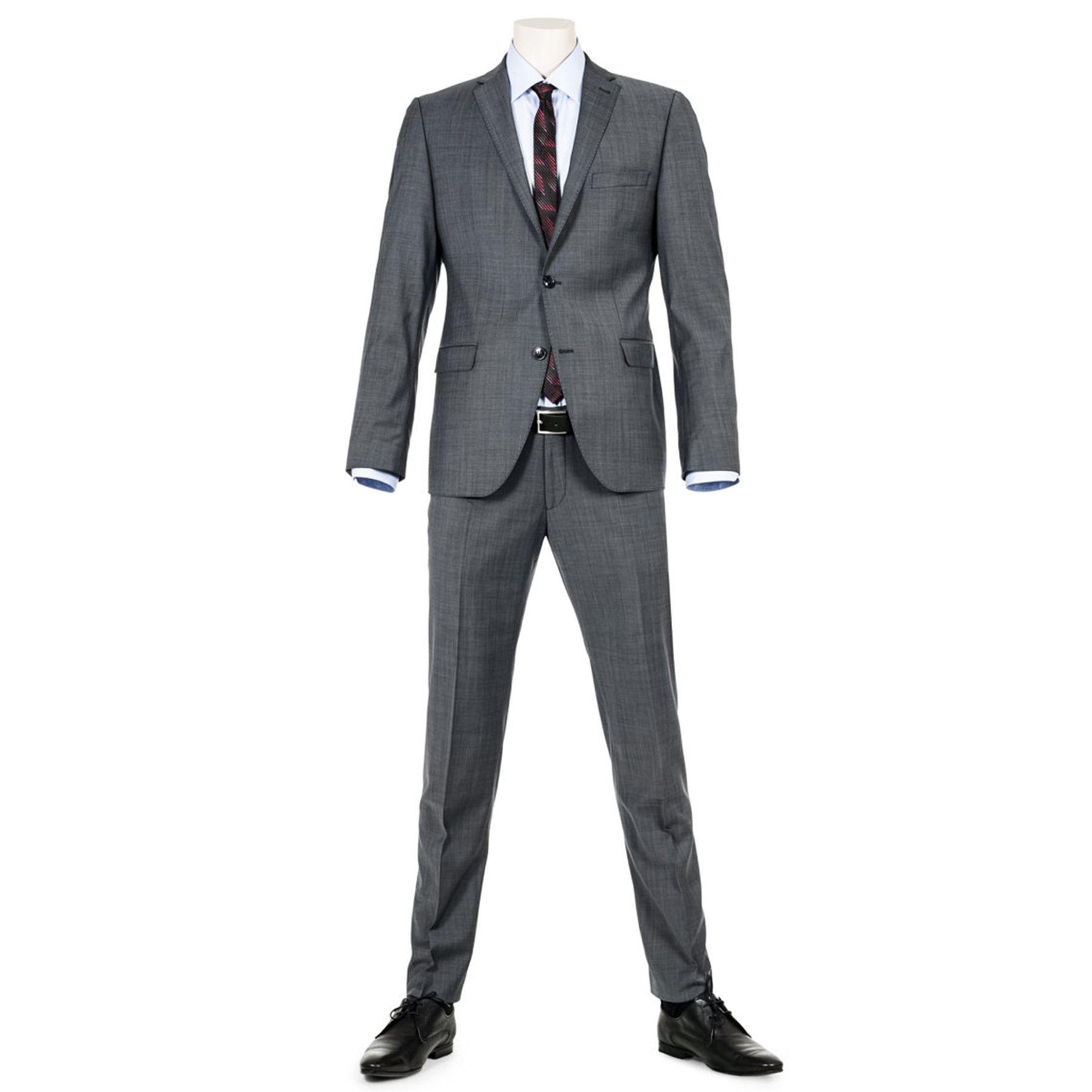 Benvenuto Purple - Slim Fit - Herren Baukasten Sakko für Jungen Trend-Anzug mit sehr schlankem Schnitt in Anthrazit, Adon (20776, Modell: 61350) – Bild 1