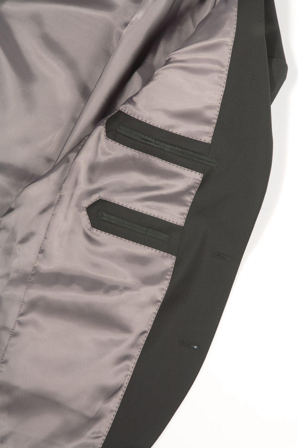 Herren Anzug aus reiner Schurwolle, Marke Lanificio Tessile D'Oro, Stil: Regular Fit, in Farbe Braun, Art. Marco/Cream  (Art.Nr.: 949700) – Bild 2