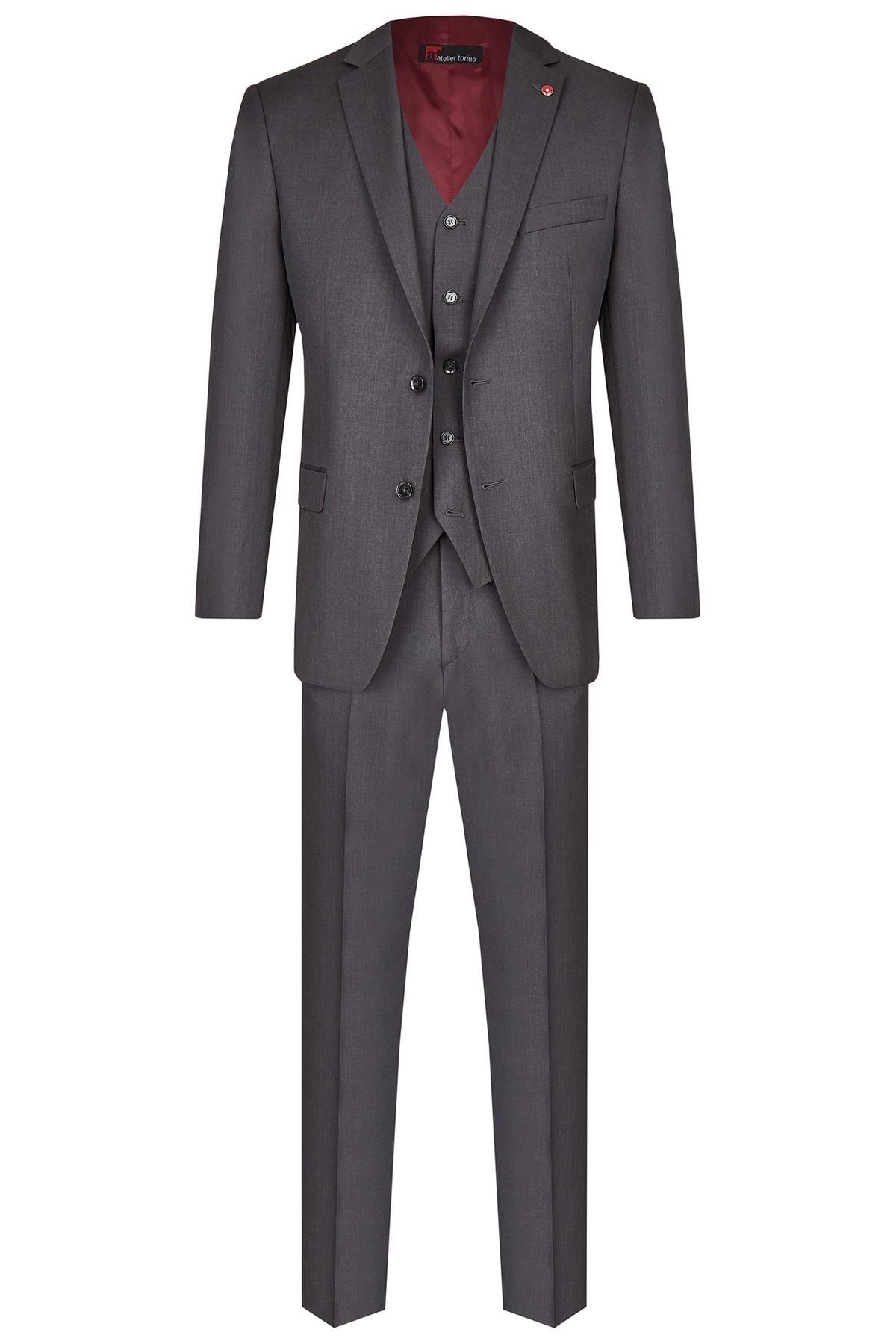 Atelier Torino - Modern Fit - Herren Baukasten Anzug aus reiner Schurwolle, Weber: Marzotto, Roma SS/Aldo (07044) – Bild 1