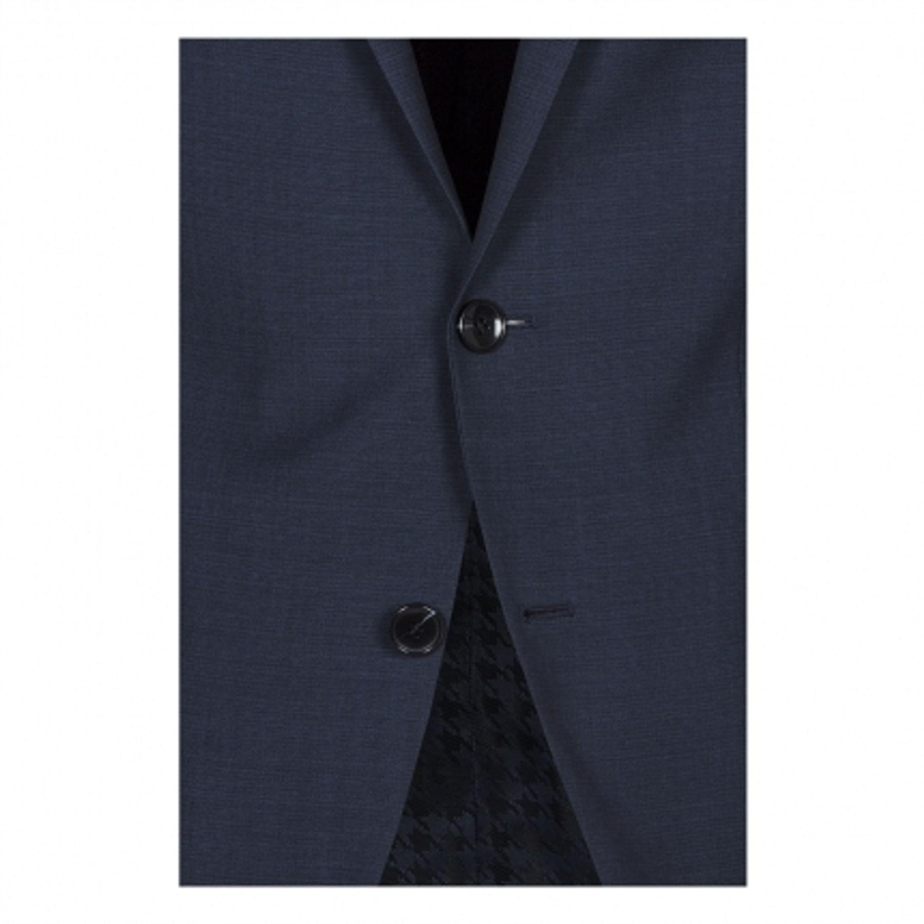 Benvenuto Purple - Slim Fit - Herren Baukasten Sakko aus 100% Schurwolle in Dunkelblau, Adrio (20825, Modell: 61370) – Bild 4
