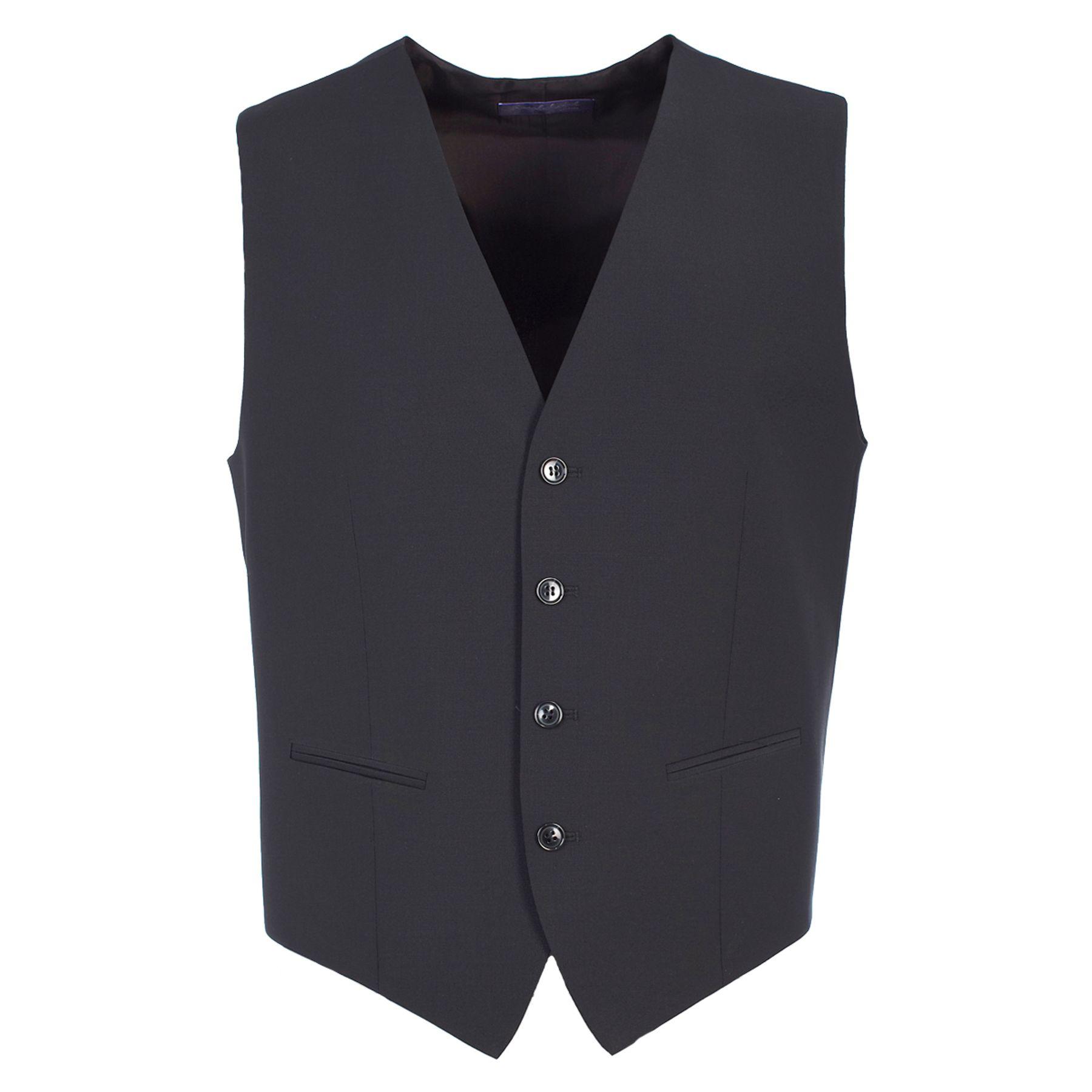Benvenuto Purple - Slim Fit - Herren Baukasten Weste für Jungen Trend-Anzug mit sehr schlankem Schnitt in Dunkelblau und Schwarz, Dante (20657, Modell: 61367) – Bild 3
