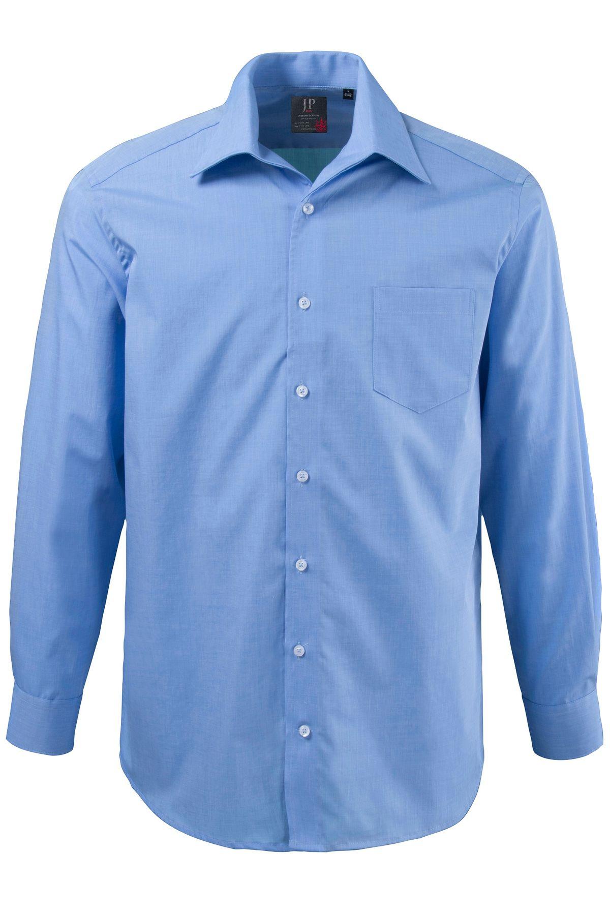 J. Popken - Comfort Fit -  Herren Hemd mit Variokragen in Hellblau bis Größe 7XL (Artikel: 70363272) – Bild 1