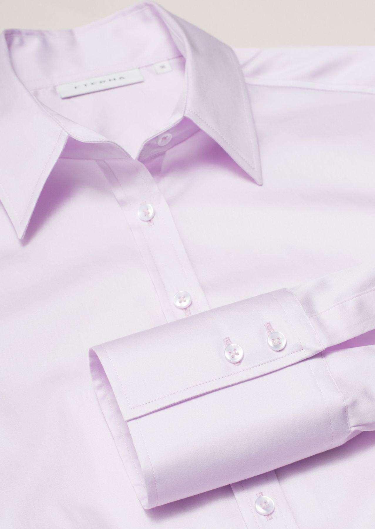 Eterna - Comfort Fit - Damen Langarm Bluse in Rosa (5352 D624) – Bild 4