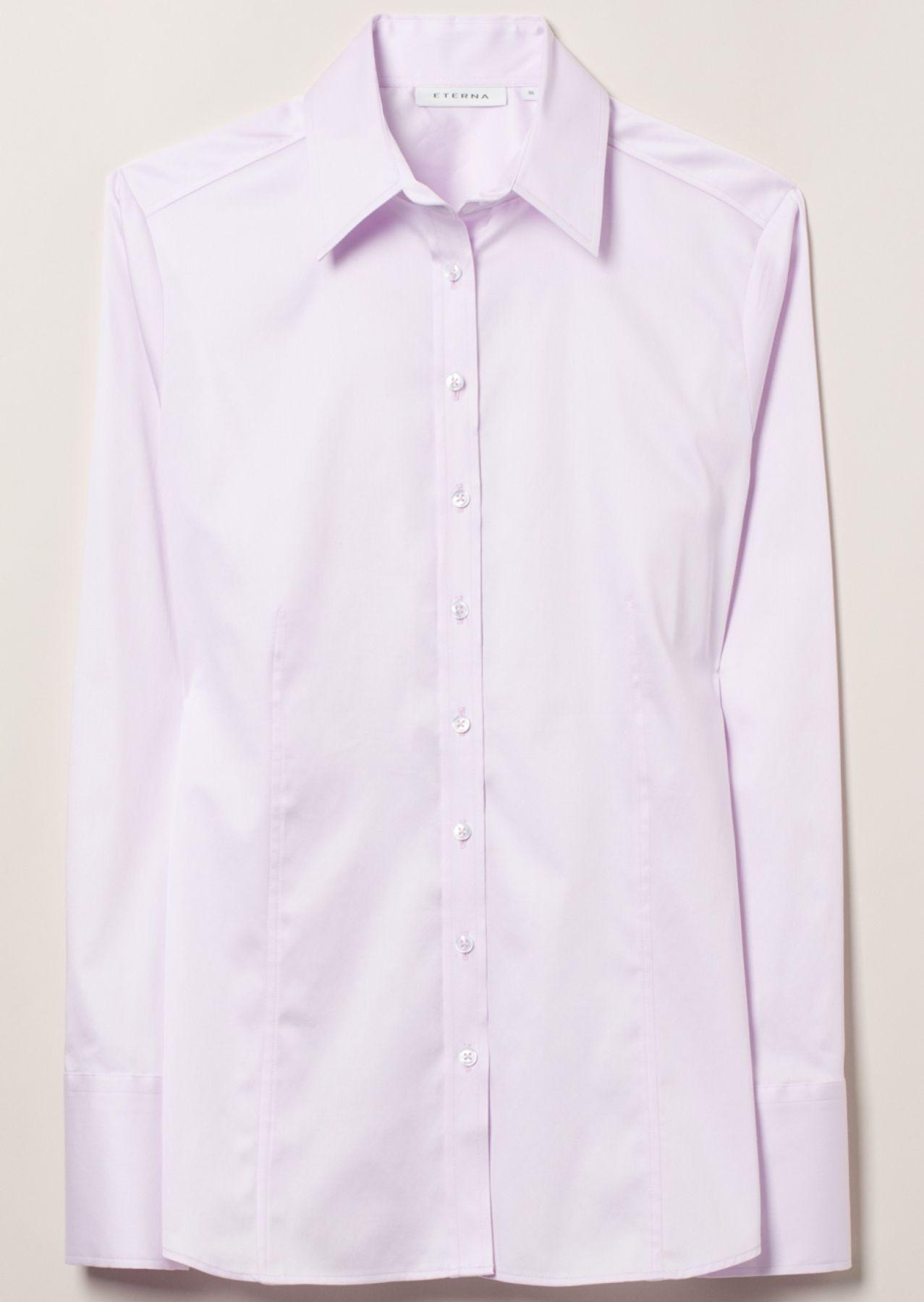 Eterna - Comfort Fit - Damen Langarm Bluse in Rosa (5352 D624) – Bild 5
