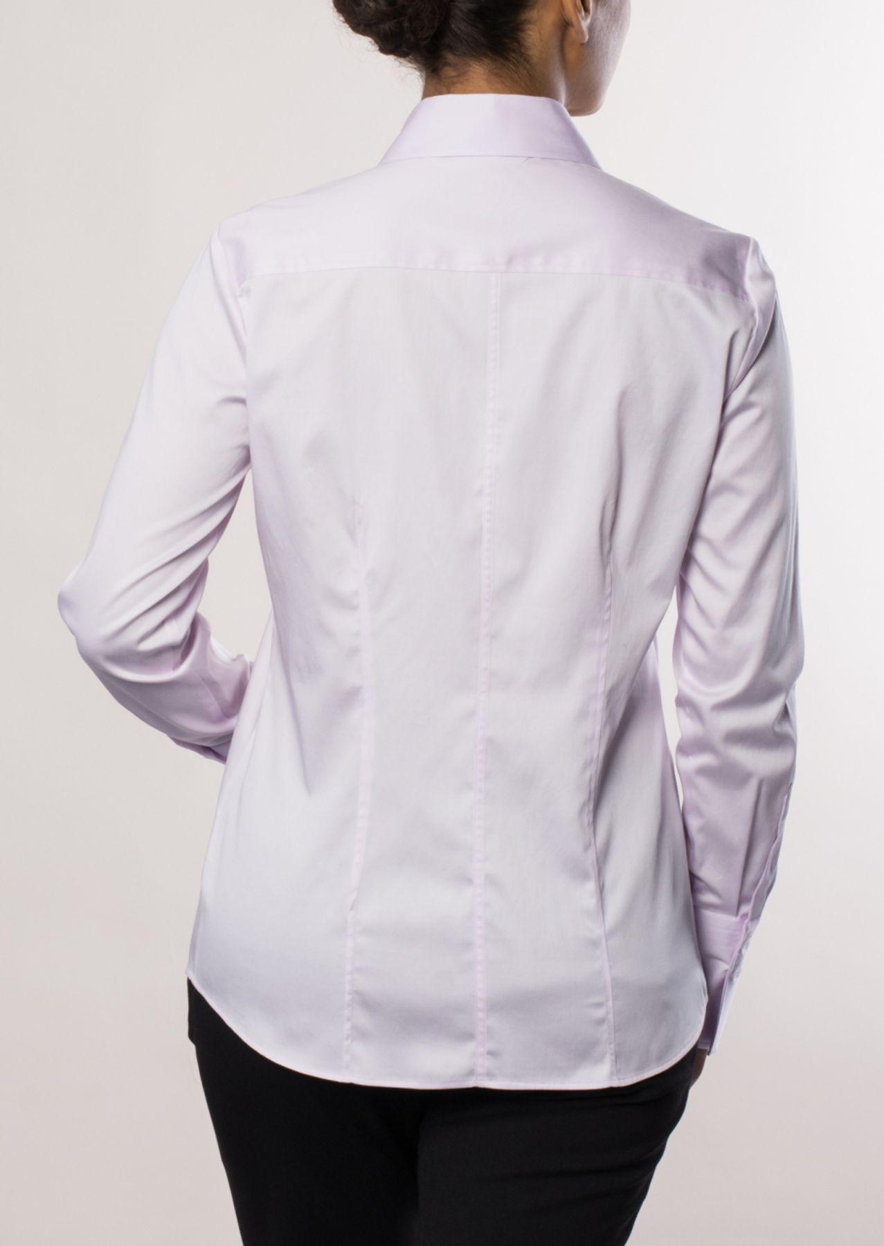 Eterna - Comfort Fit - Damen Langarm Bluse in Rosa (5352 D624) – Bild 2