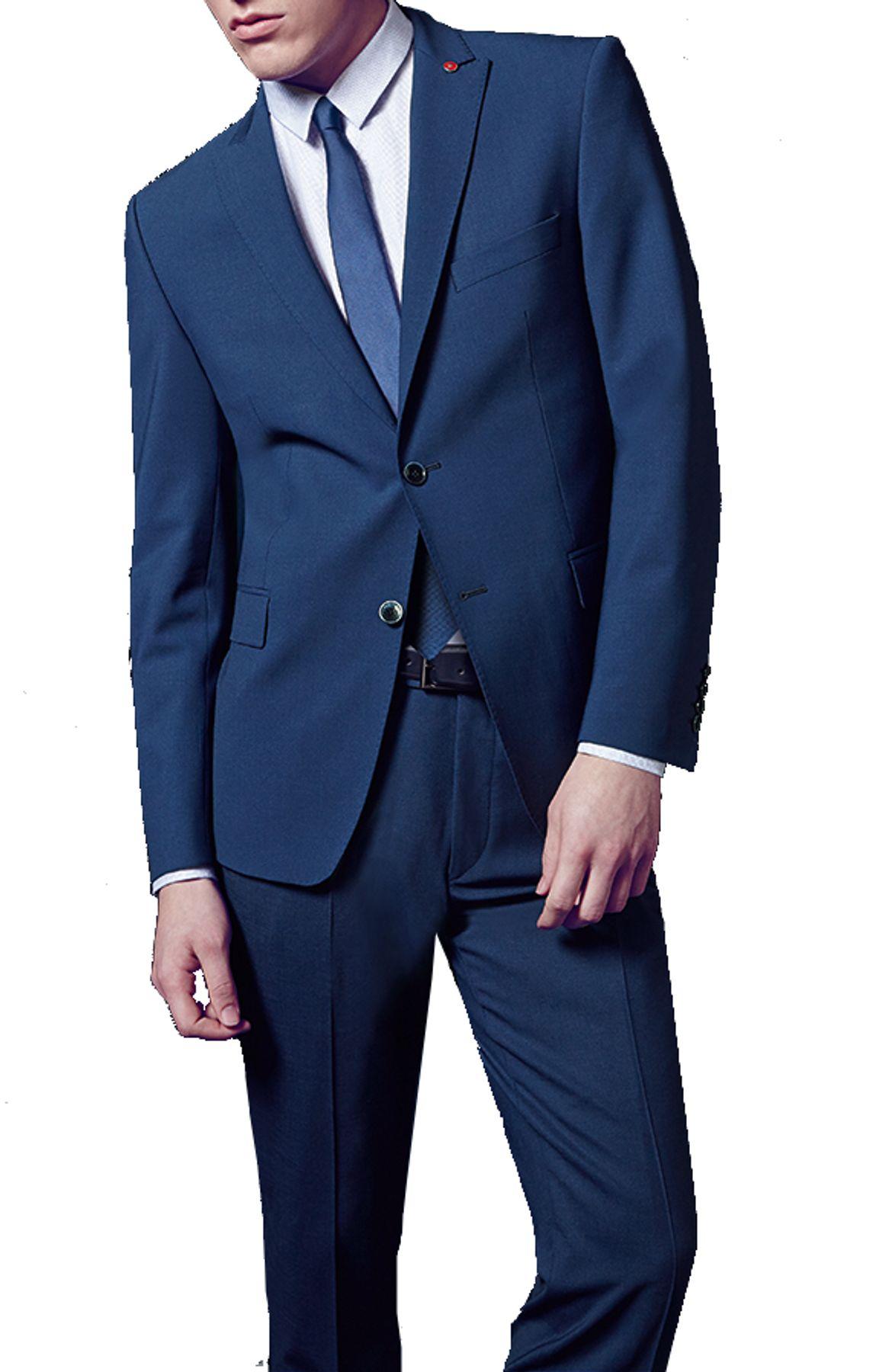 Atelier Torino GALA - Modern Fit - Herren Baukasten Anzug in Blau, Weber: Tollegno, Tizian SS/Caio (861153) – Bild 2